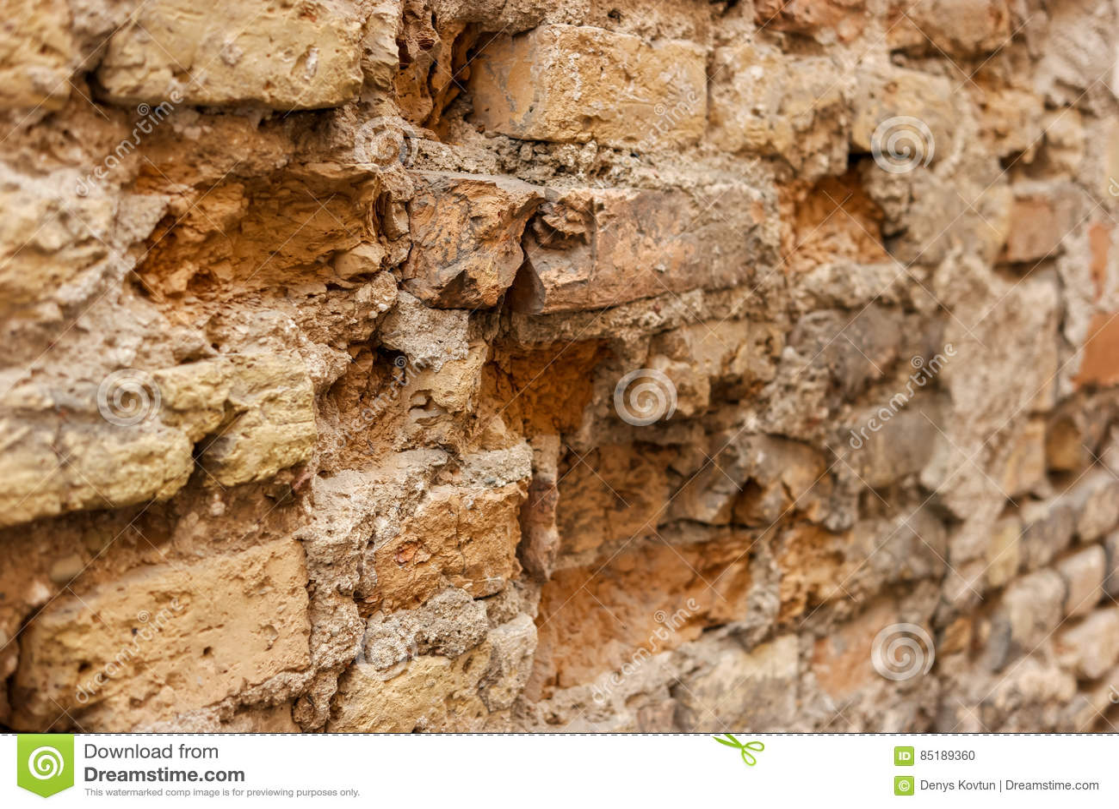 Uszkodzona stara ściany