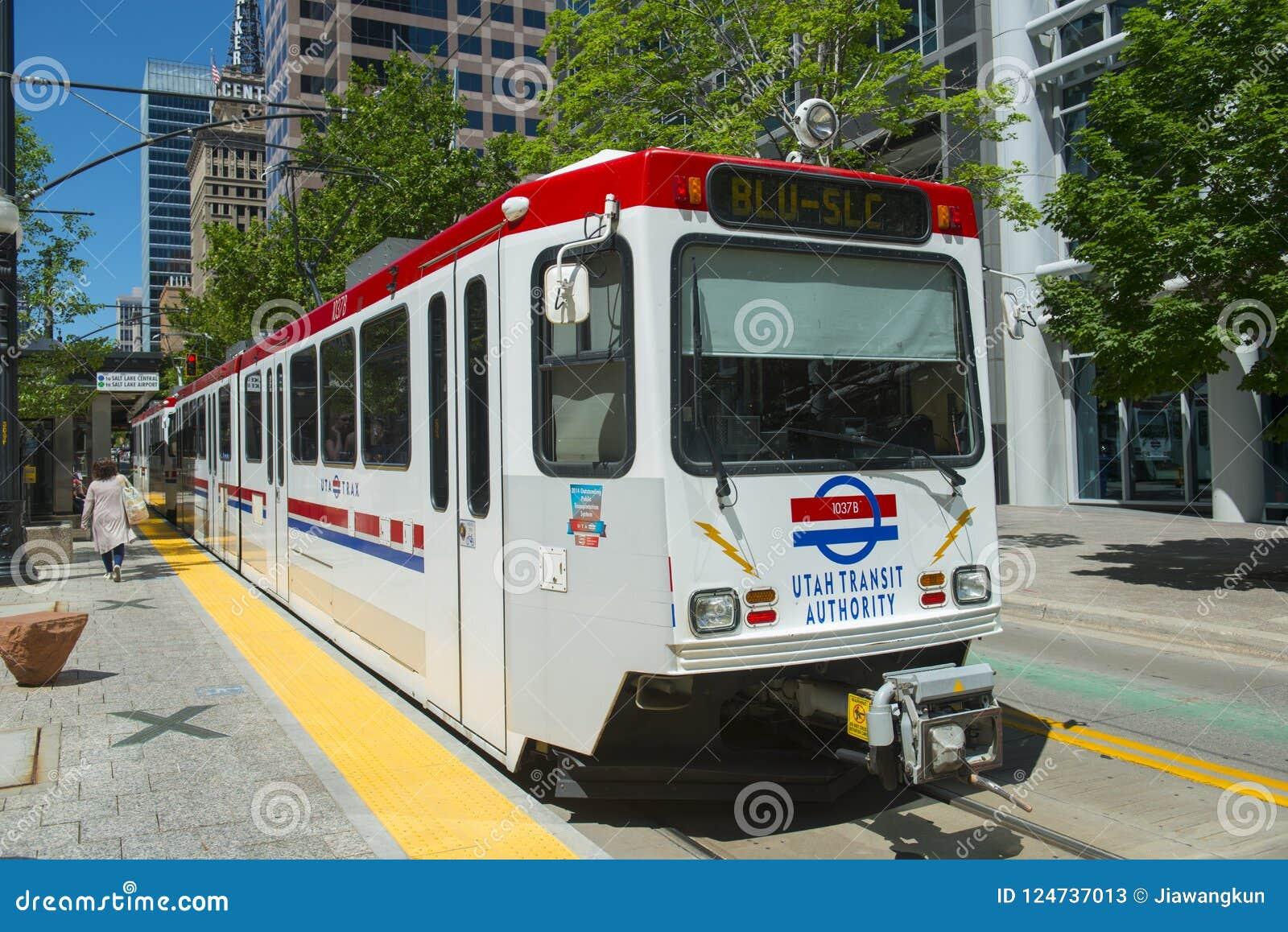 UTA Light Rail In Salt Lake City, Utah, USA Editorial Stock