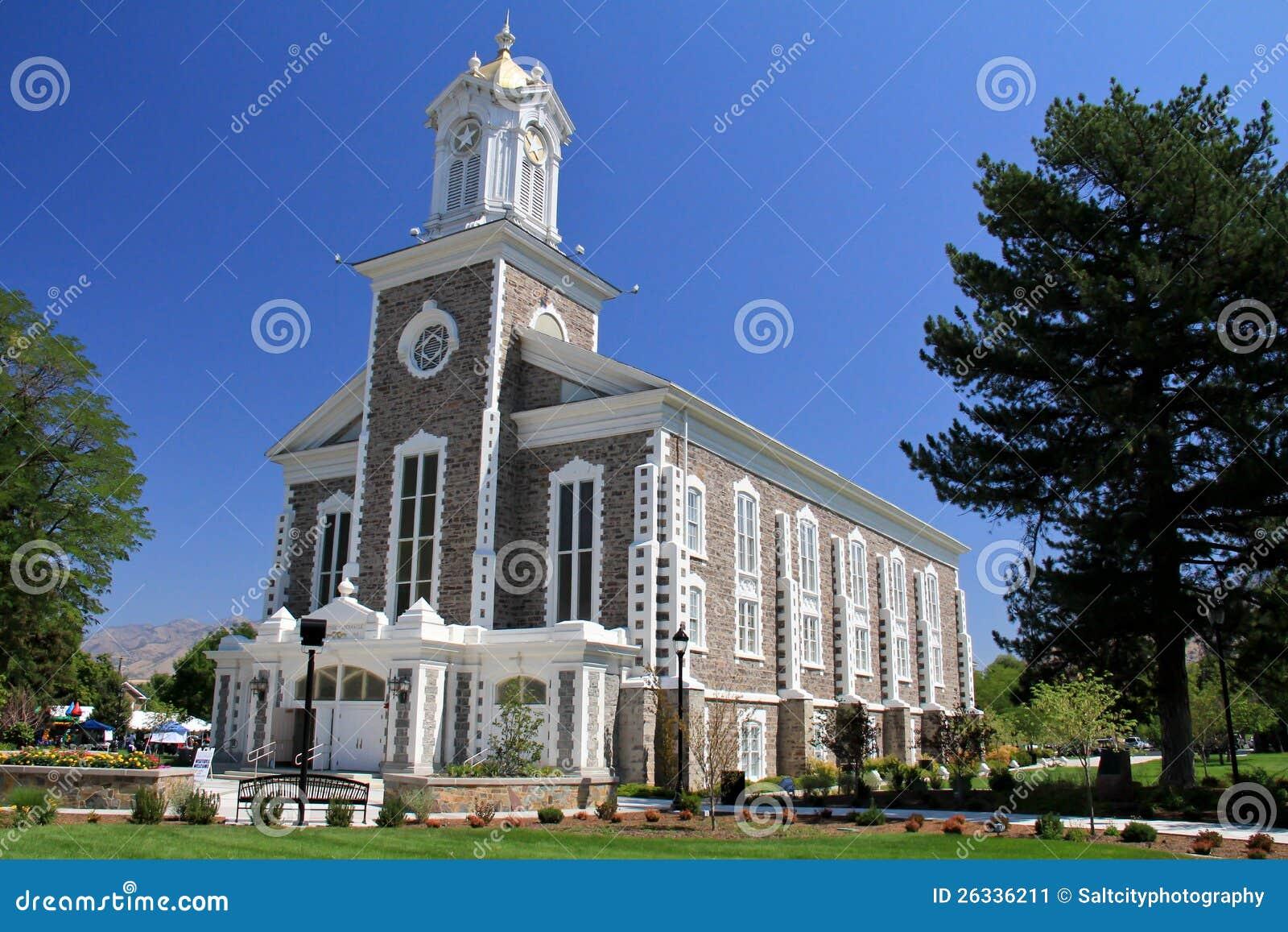 Utah Logan Mormon Tabernacle Stock Image Image 26336211
