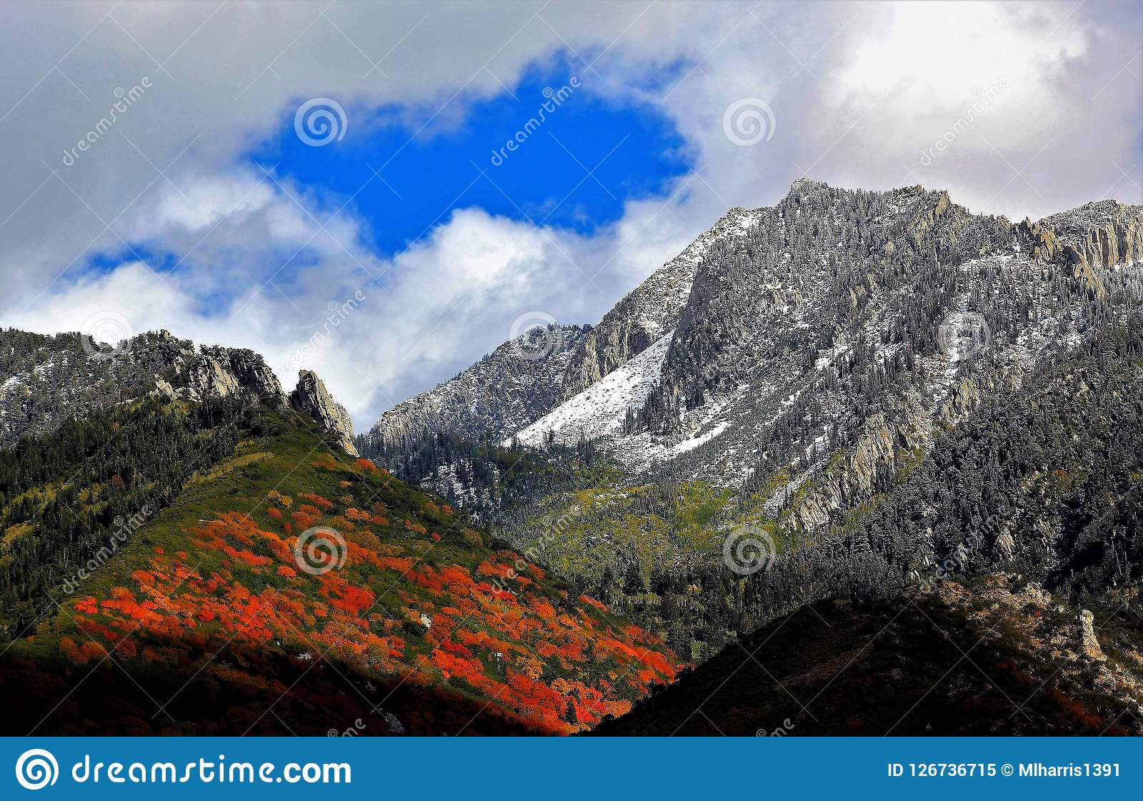 12x6ft Autumn Panoramic Wasatch Mountains Backdrop Utah Colourful Fall Sunrise Rocky Mountain Ridge Forest Scenery Alpine Background Travel Tour Scenic Photo Studio Props Vinyl