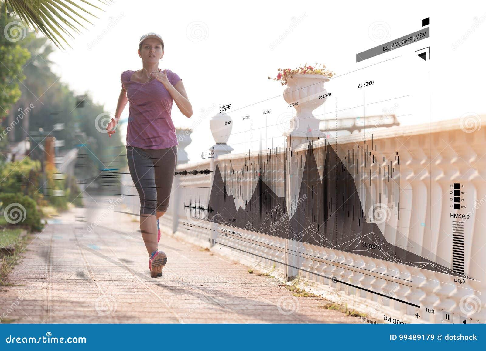 Utbildning och jogga för konditionkvinna