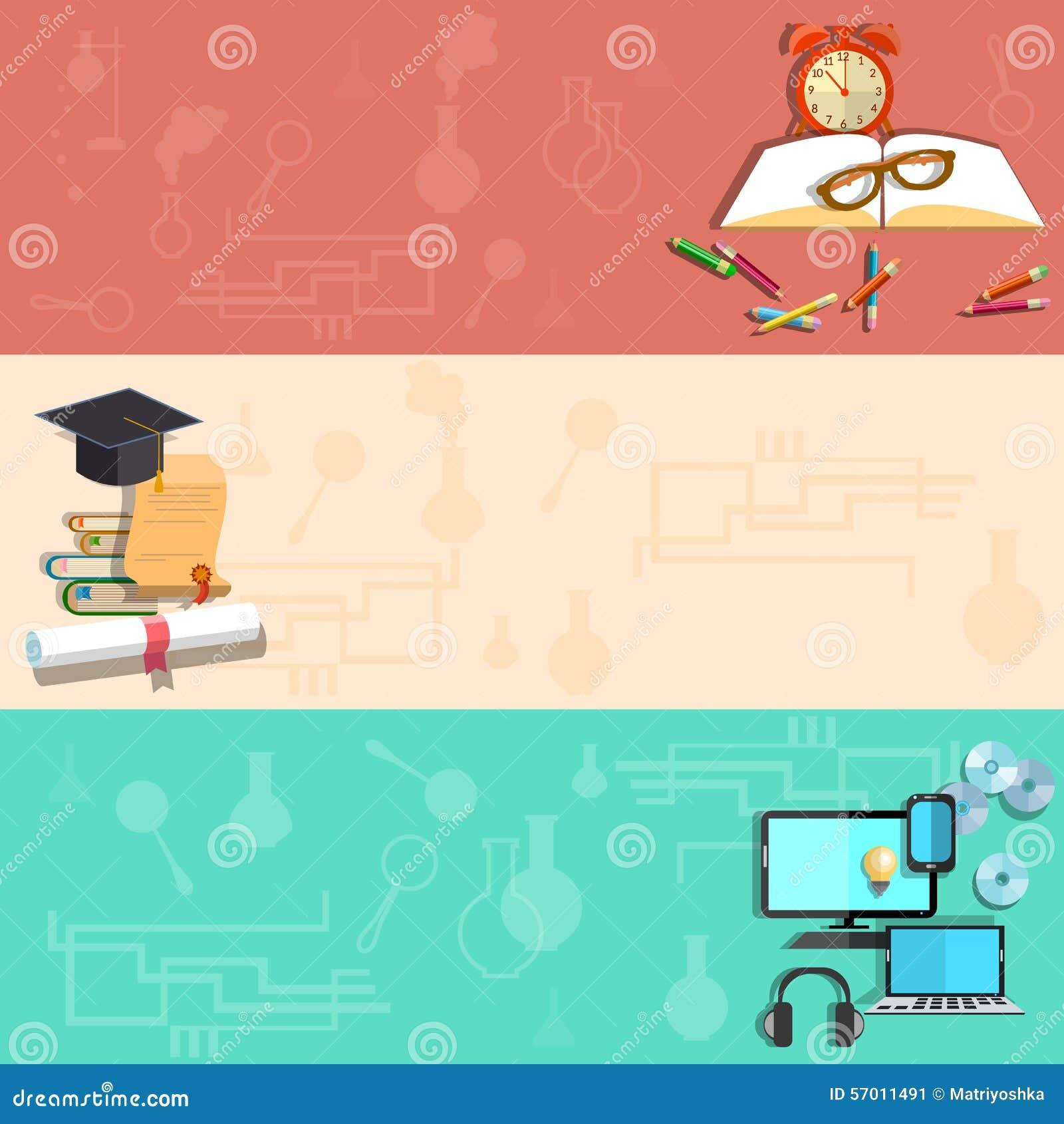 Utbildning som lär direktanslutet, skolämnar, vektorbaner