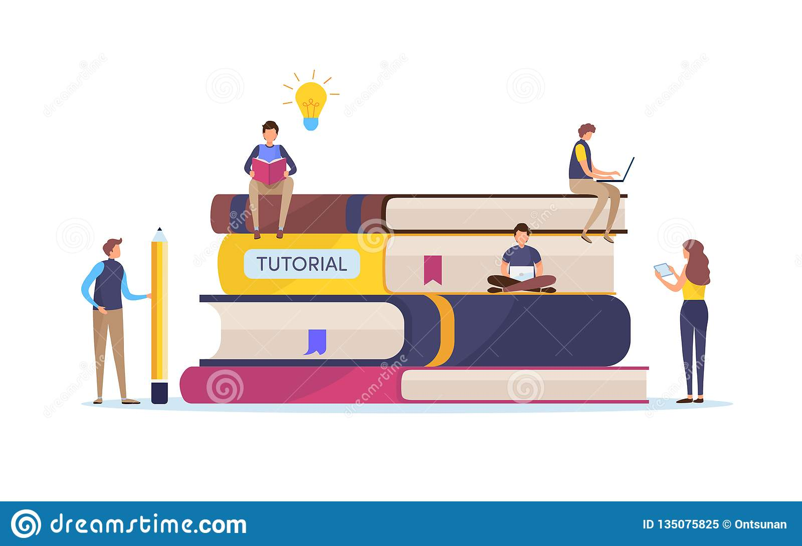 Utbildning utbildningskurs Online-studie Tutorials och e-att lära, smart kunskap Diagram för tecknad filmminiatyrillustrationvekt