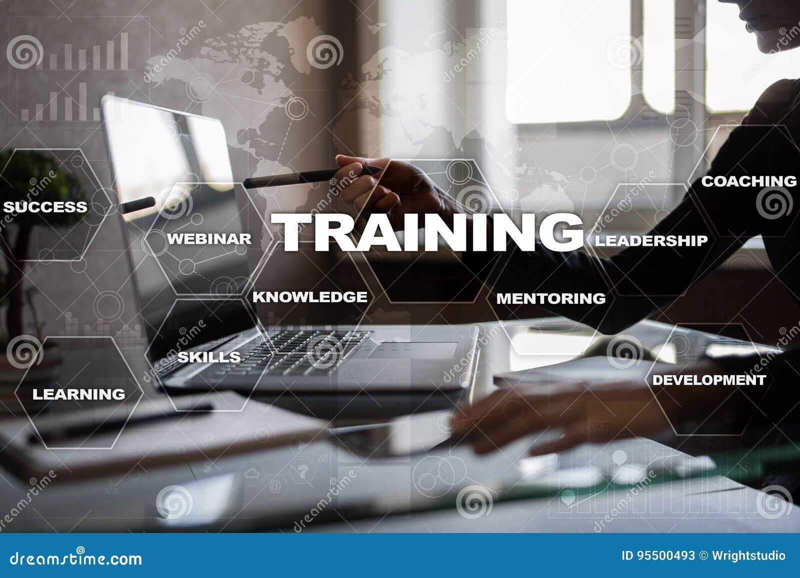 Utbildnings- och utvecklingsprofessionelltillväxt Internet- och utbildningsbegrepp