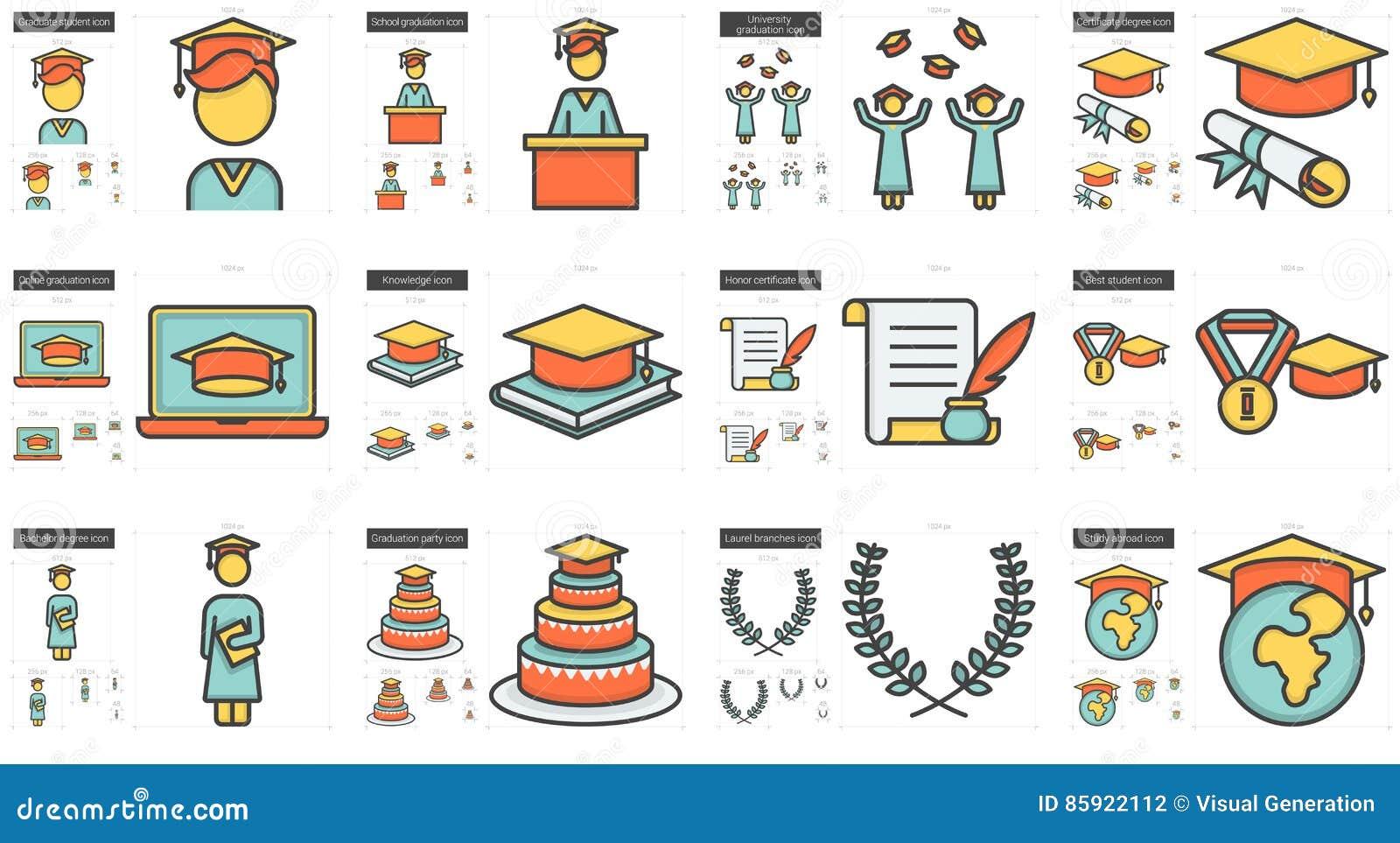 Utbildningslinje symbolsuppsättning