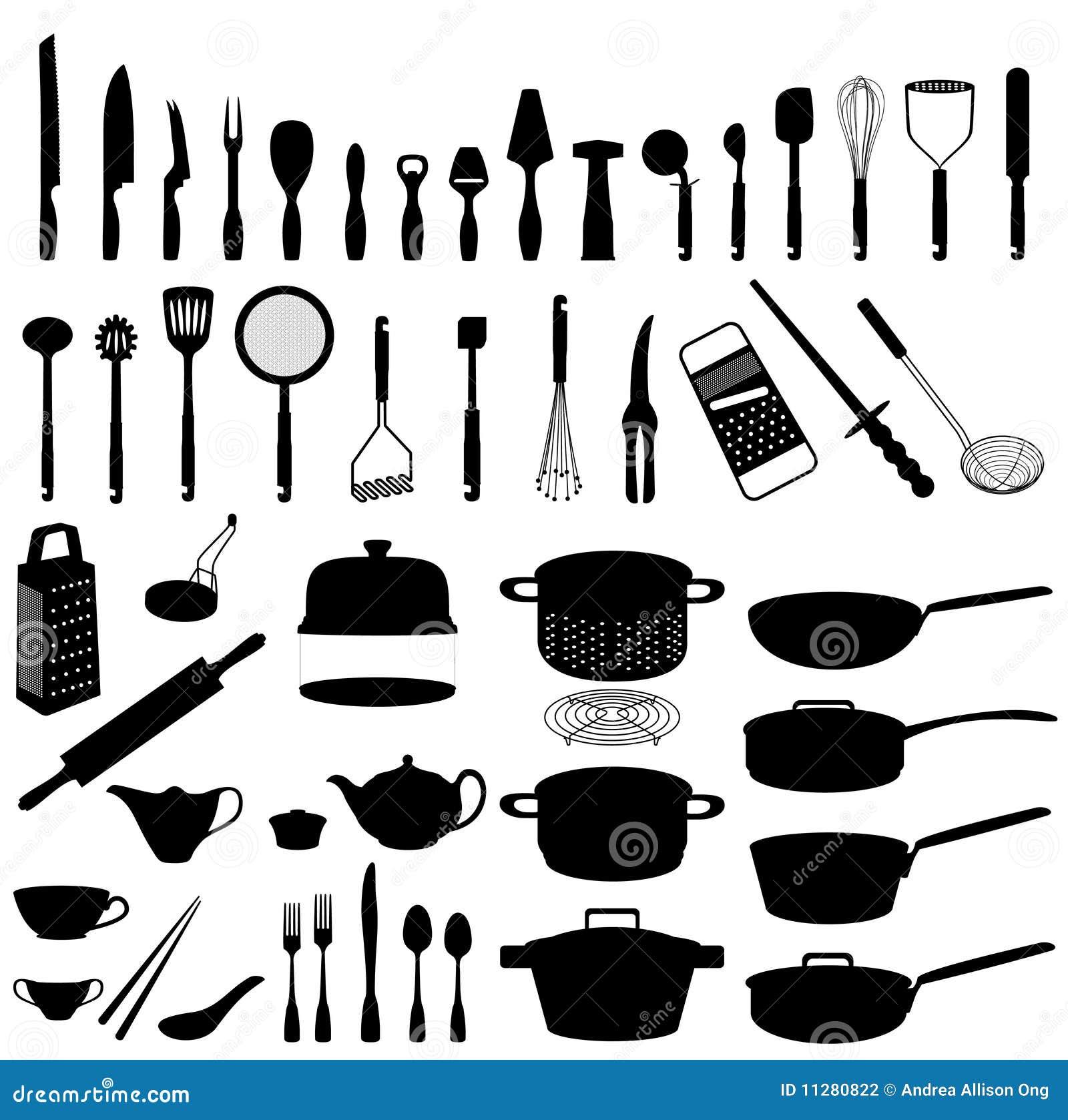 Utensílios Da Cozinha Ilustração Do Vetor. Ilustração De
