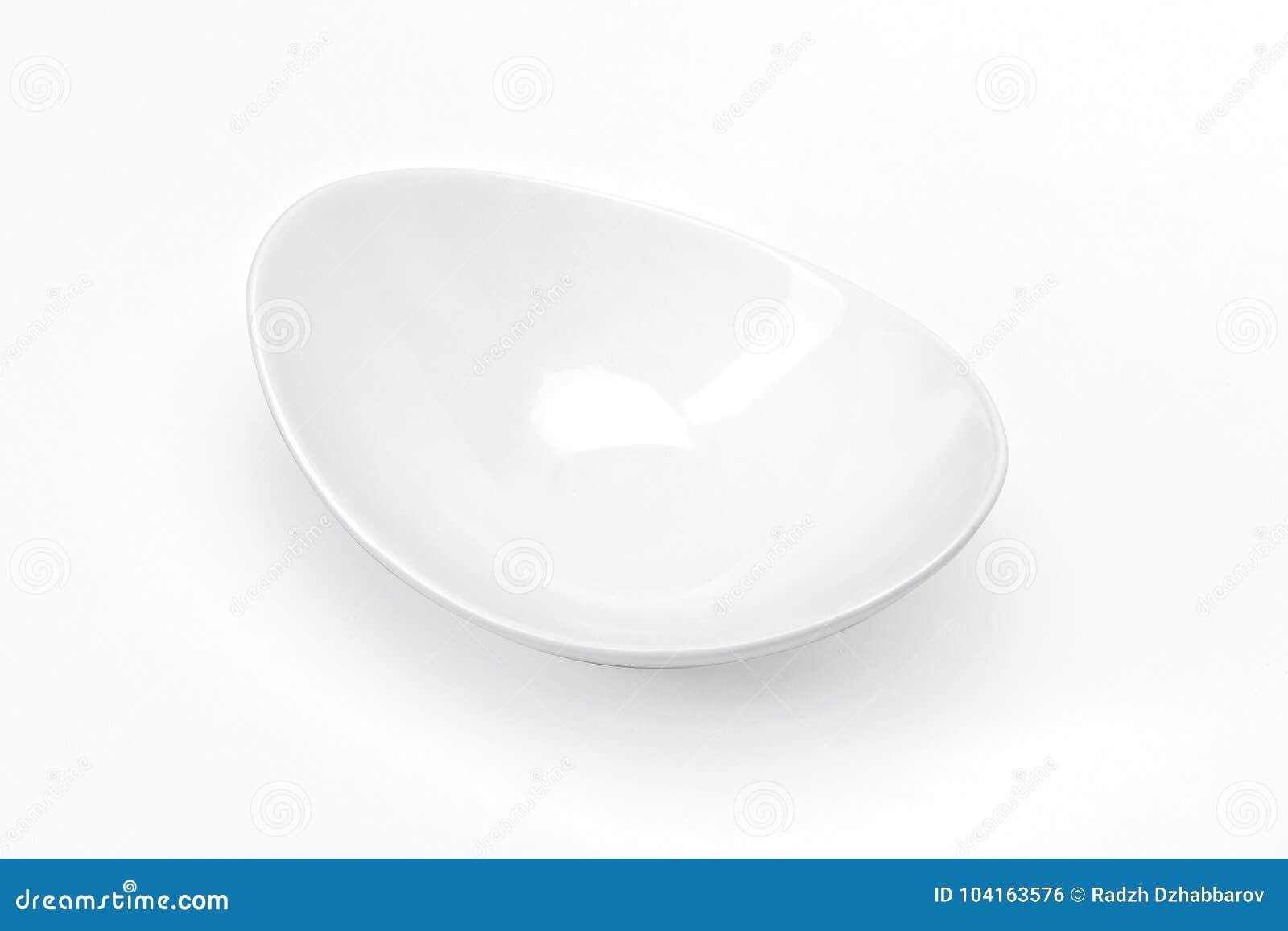 Utensílios de mesa vazios para seu projeto, bacia cerâmica branca da porcelana do molde para o fundo do branco dos molhos