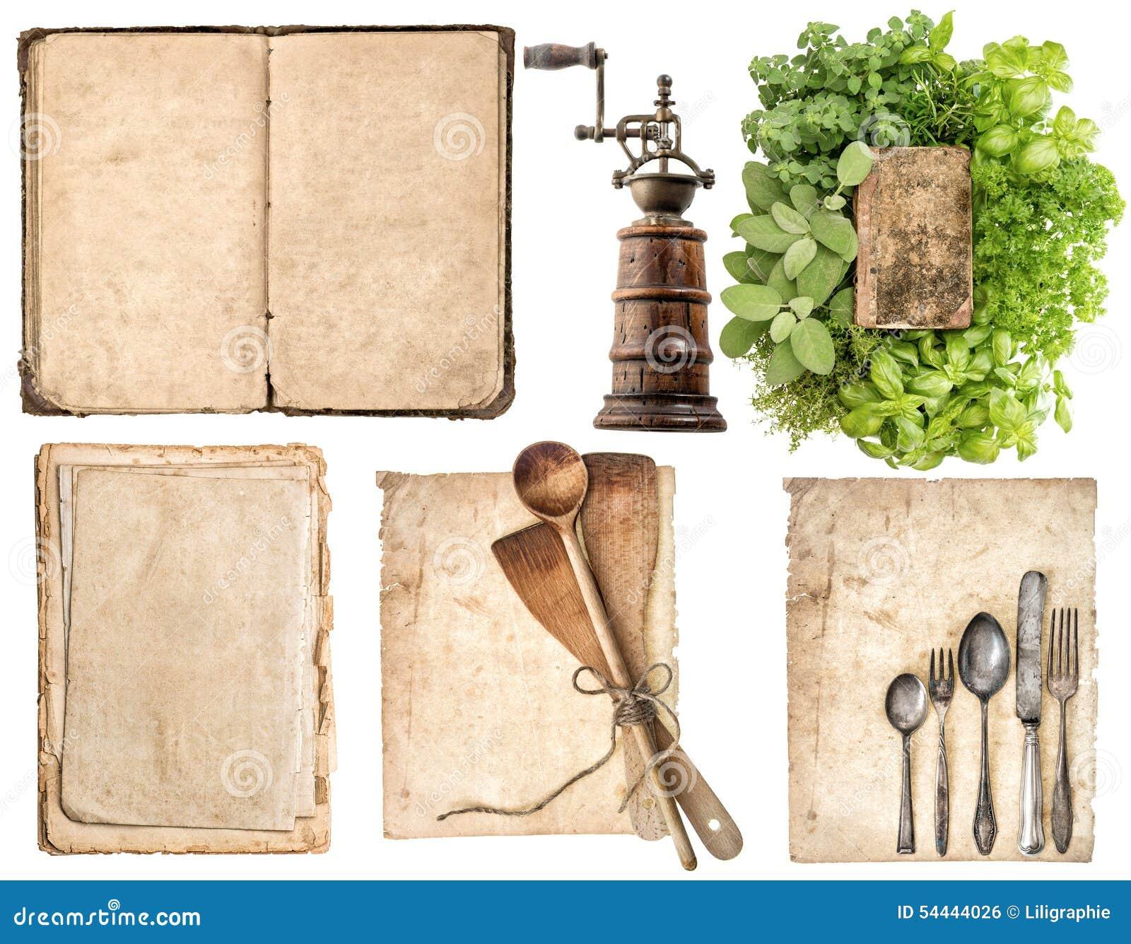 Cucine Antiche Usate.Utensili Di Legno Antichi Della Cucina Vecchio Libro Di