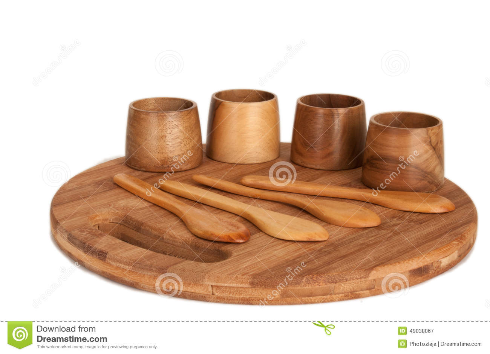 Utensilios antiguos de madera de la cocina foto de archivo for Utensilios medidores cocina
