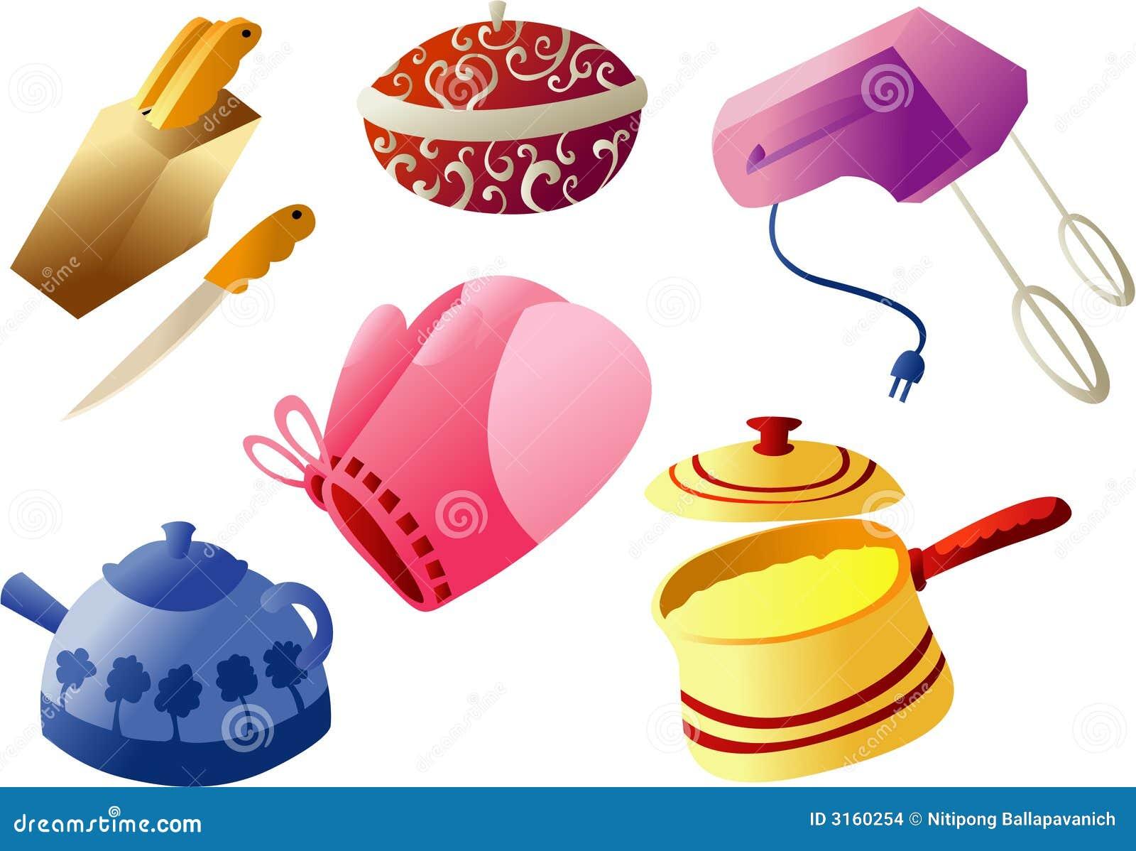 Utensilios de cocina cliparts ilustraci n del vector for Utensilios de cocina nombres e imagenes