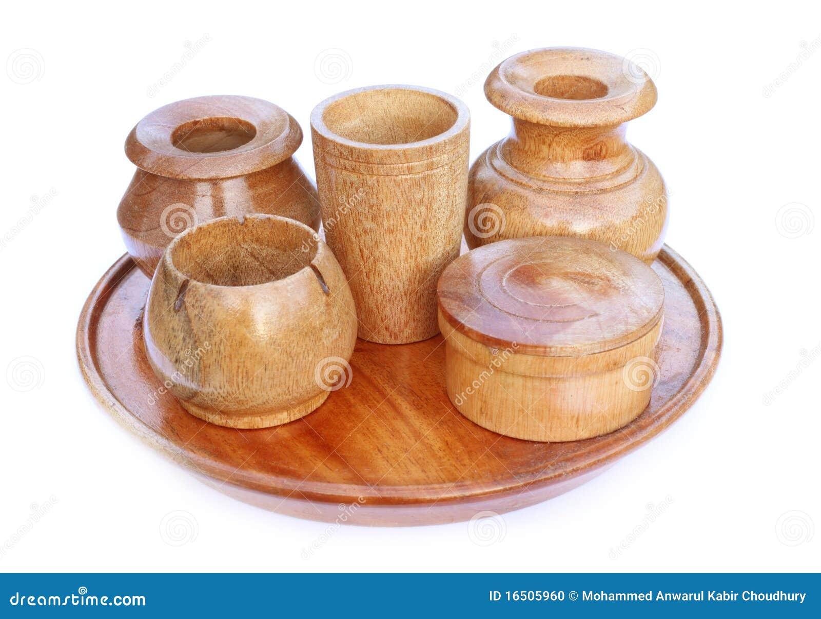 Utensilios de cocina de madera foto de archivo imagen for Utensilios cocina