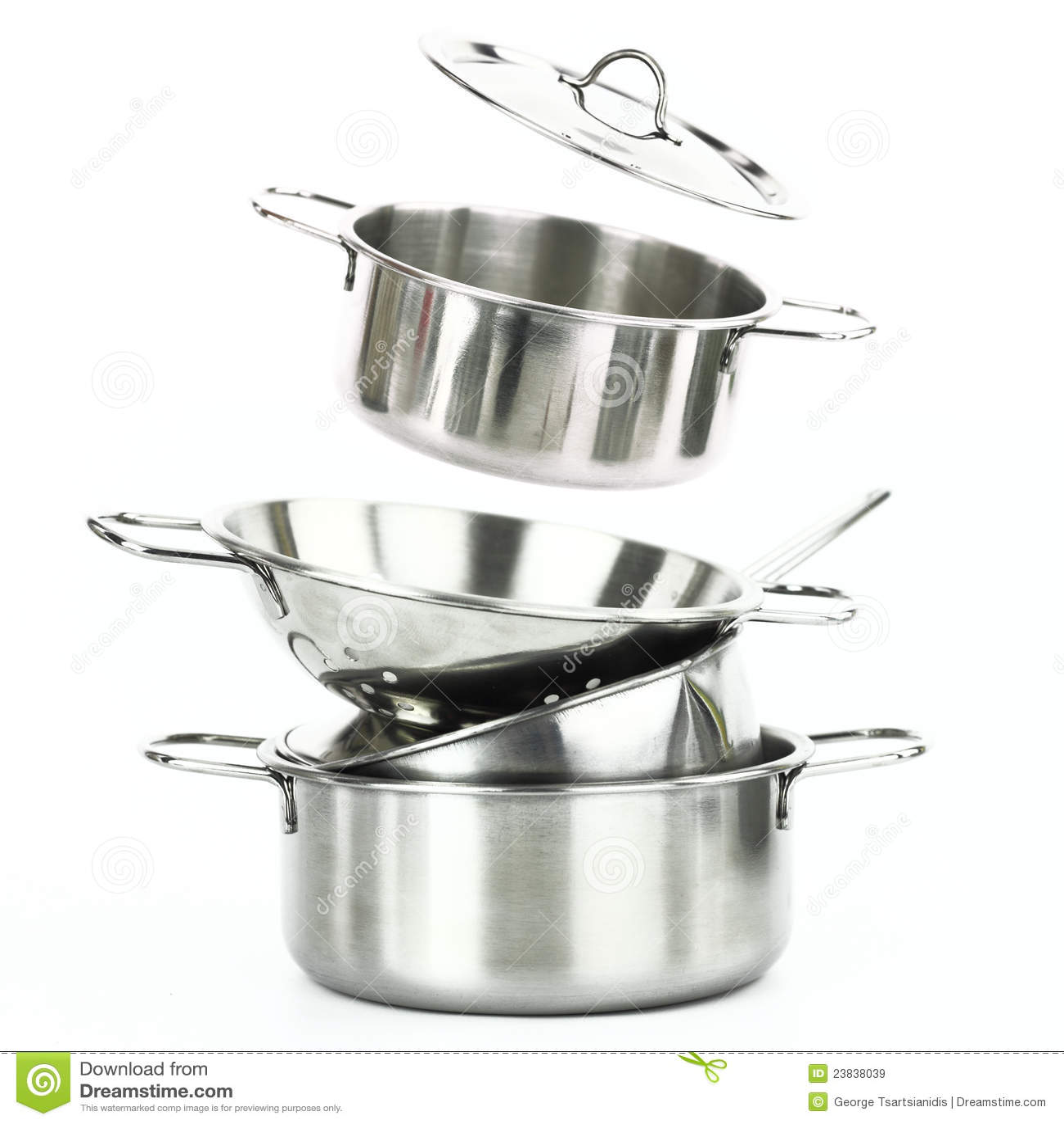 Utensilios De Cocina Del Acero Inoxidable Imagen de archivo - Imagen ...