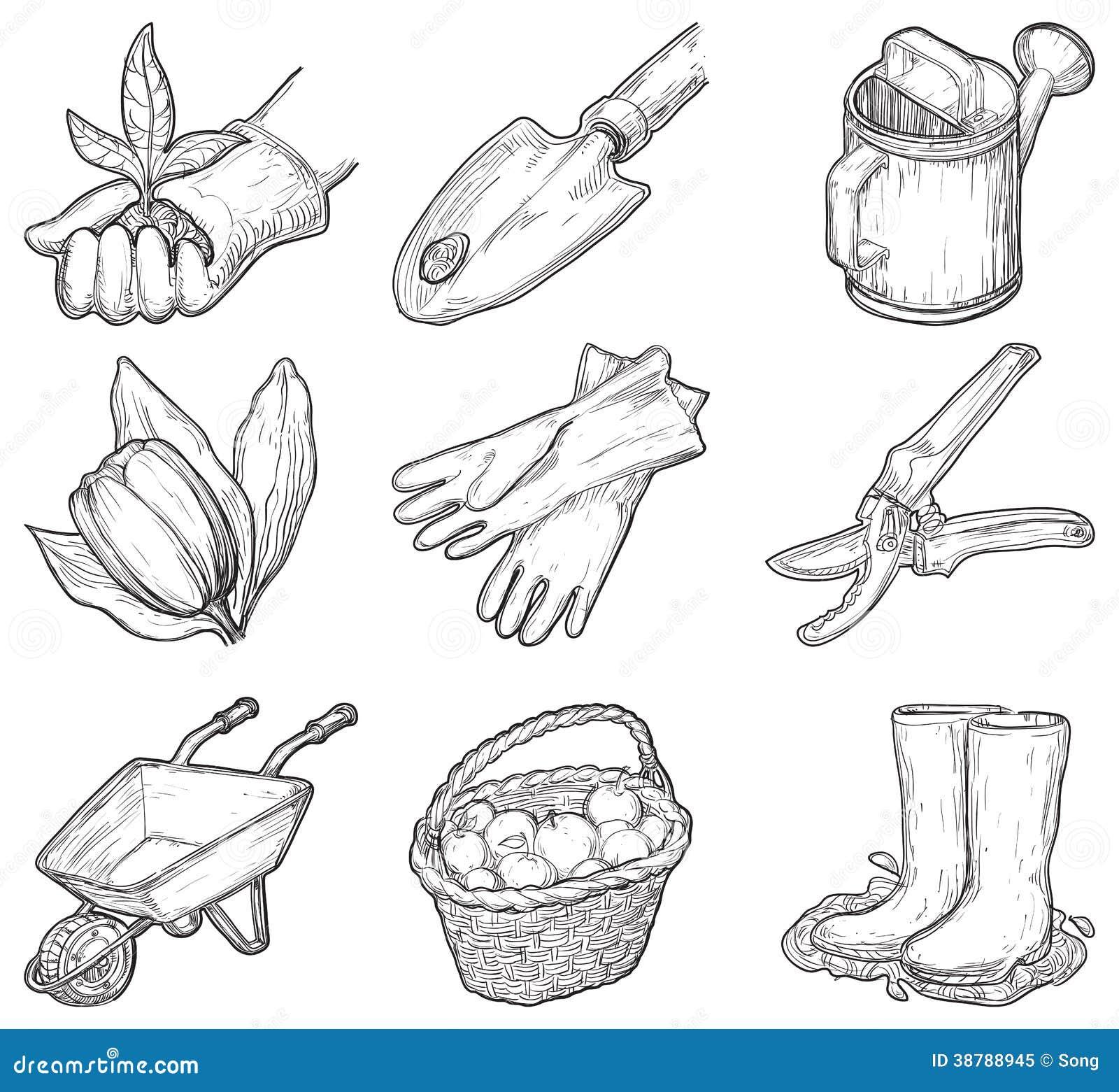 Utensilios De Jardiner A Y Cosas Ilustraci N Del Vector