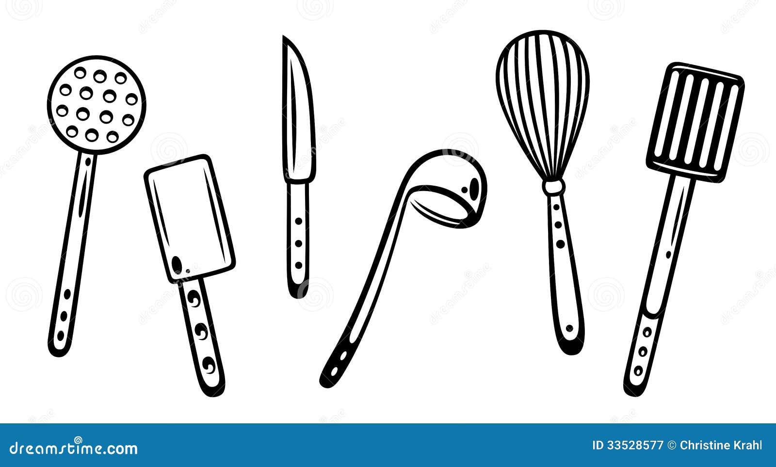 Utensilios de la cocina ilustraci n del vector for Elemento de cocina negro