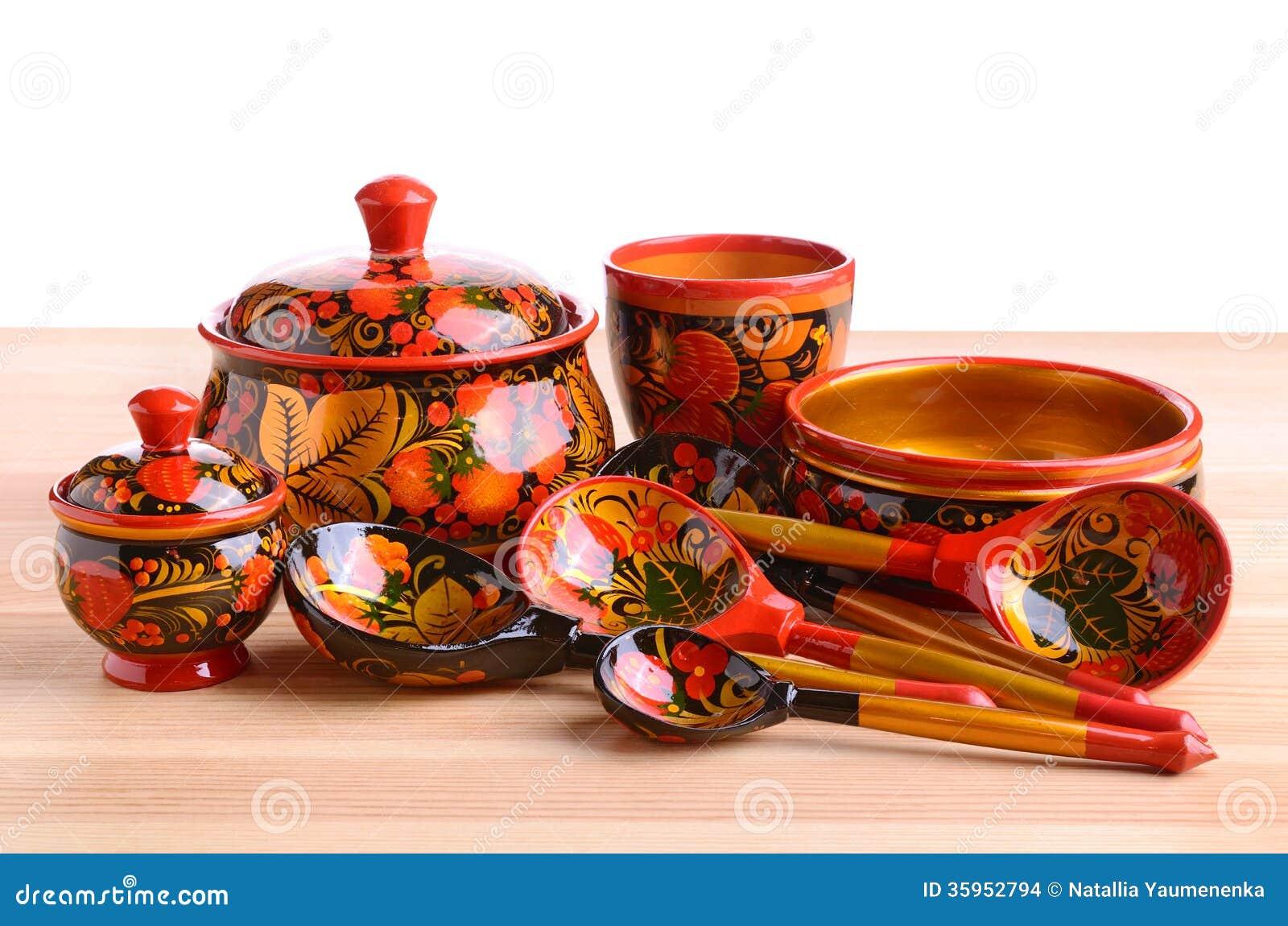 Utensilios de la cocina de Khokhloma