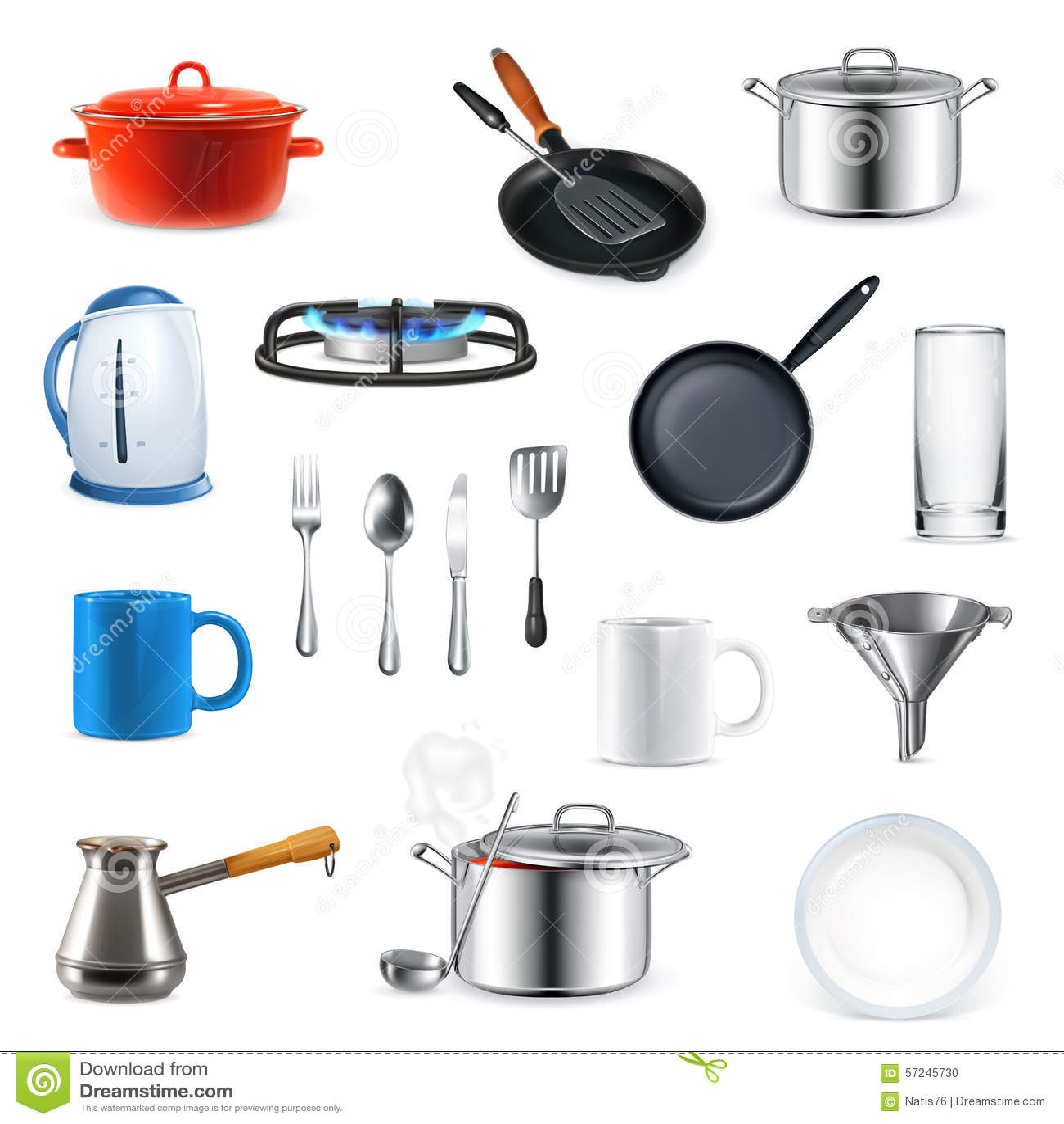 Utensilios de la cocina ejemplo del vector ilustraci n for Utensilios de cocina fondo