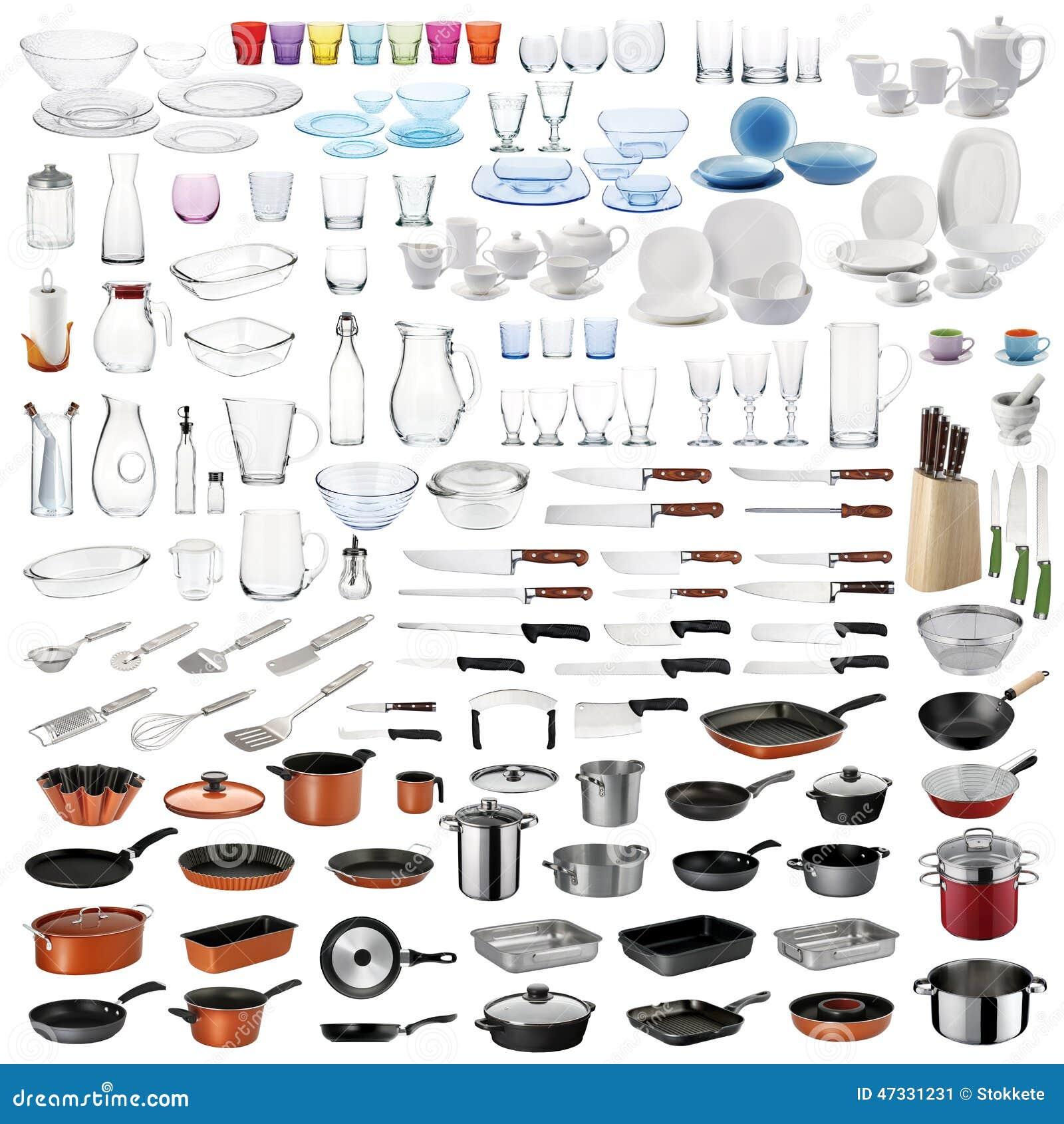 Utensilios de la cocina fijados imagen de archivo imagen de bloque cristaler a 47331231 - Liste ustensile de cuisine ...