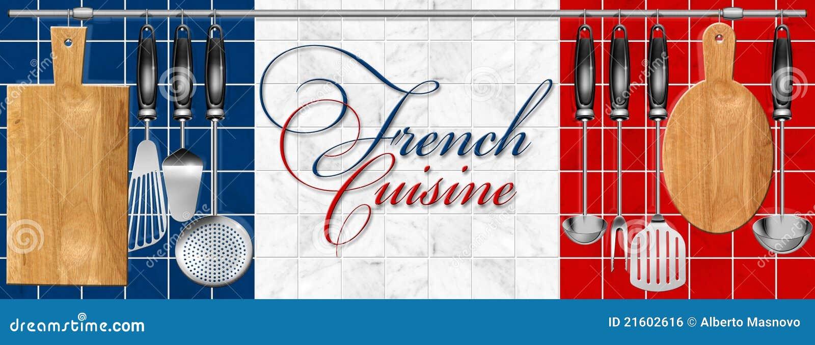 utensilios determinados de la cocina de la cocina francesa