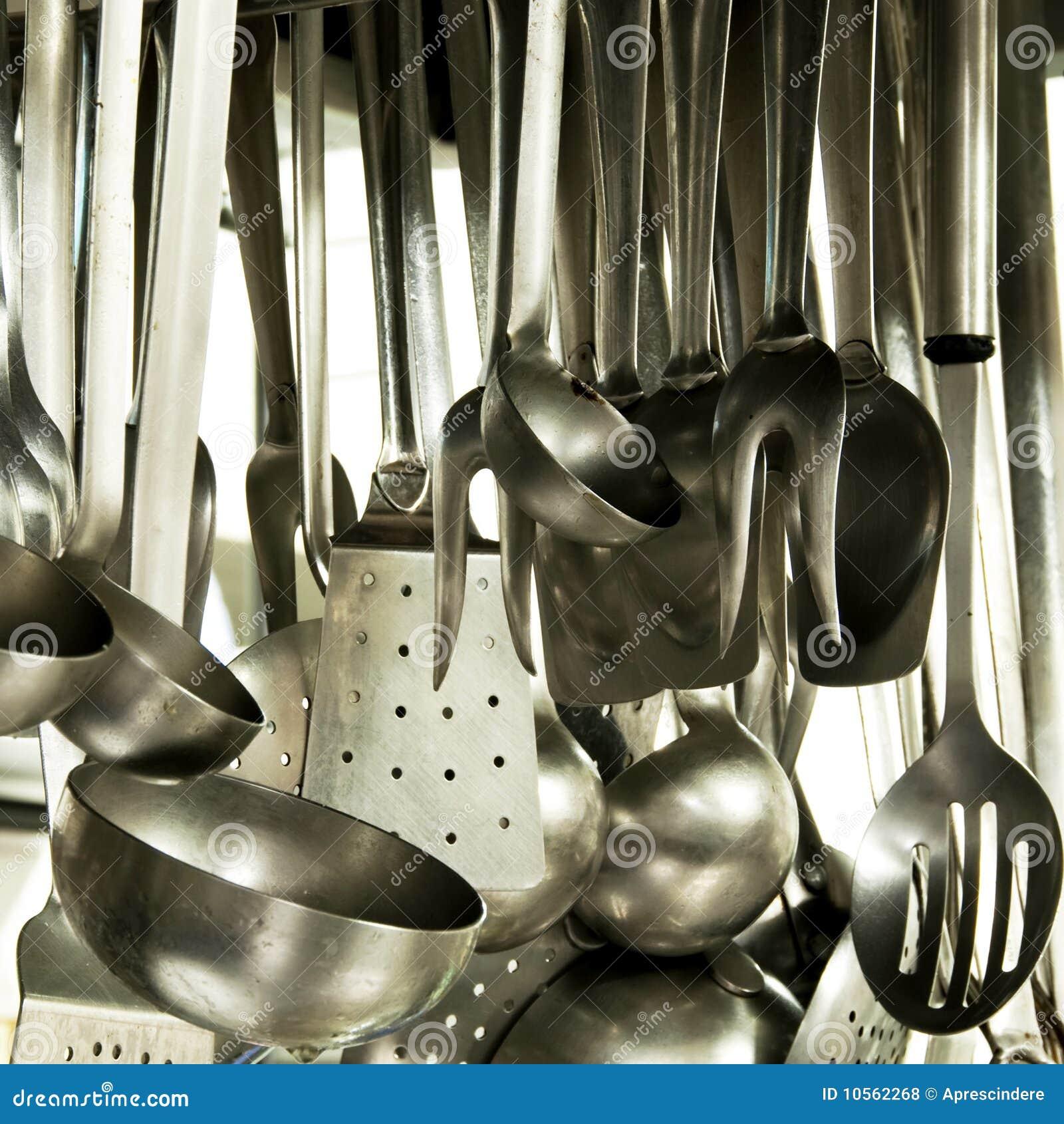 Dream Kitchen Utensils: Utensils In A Hotel Kitchen Royalty Free Stock Photos