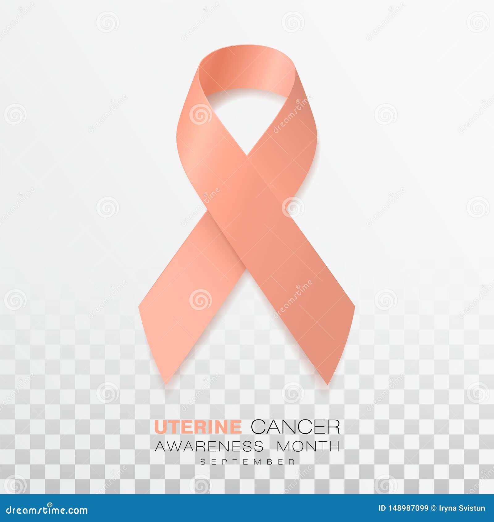 Endometrial cancer ribbon - Uterine cancer ribbon color. - Pancreatic cancer ribbon