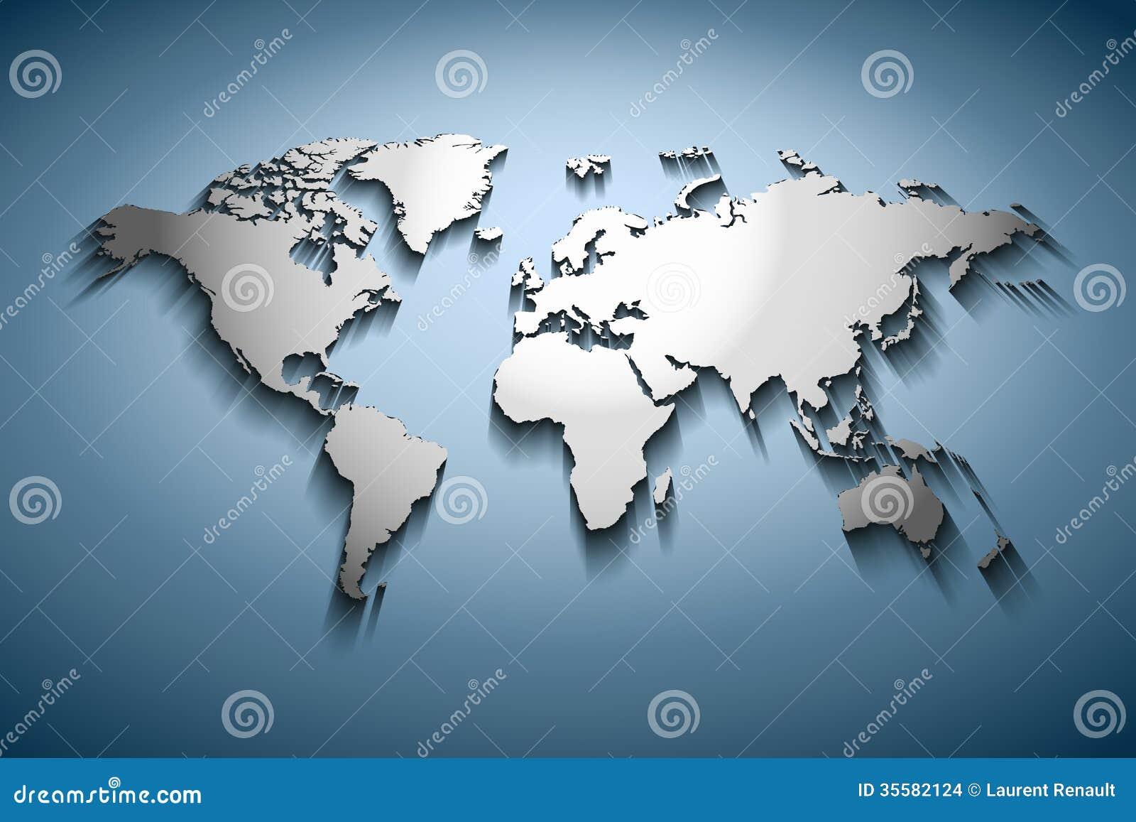 Utföra i relief världskarta