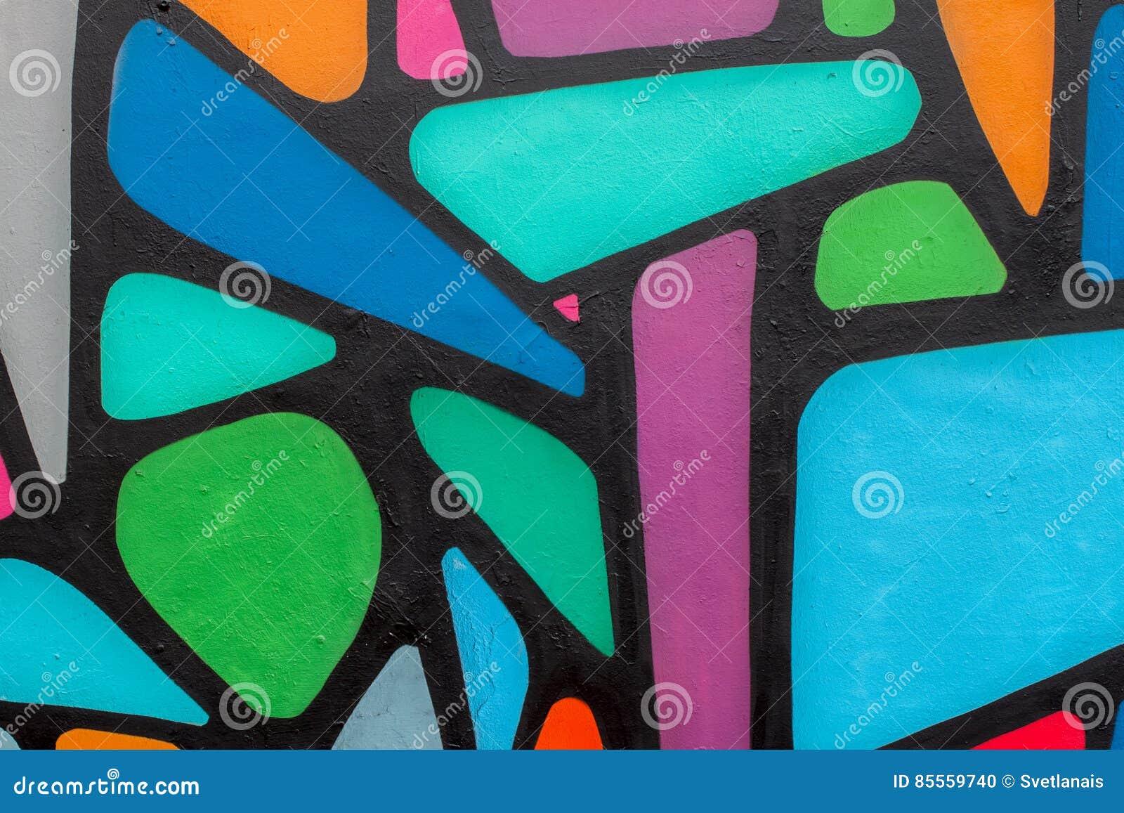 Utformar färgrika grafitti för abstrakt härlig gatakonst closeupen Modern iconic stads- kultur av ungdom specificera Kan vara