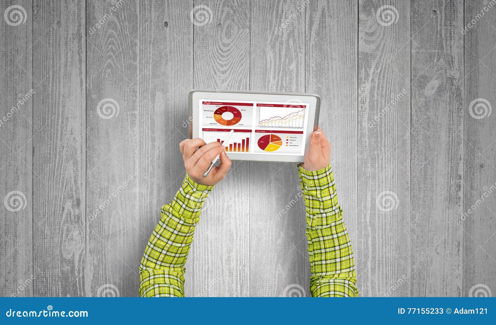 Utilisant l application financière