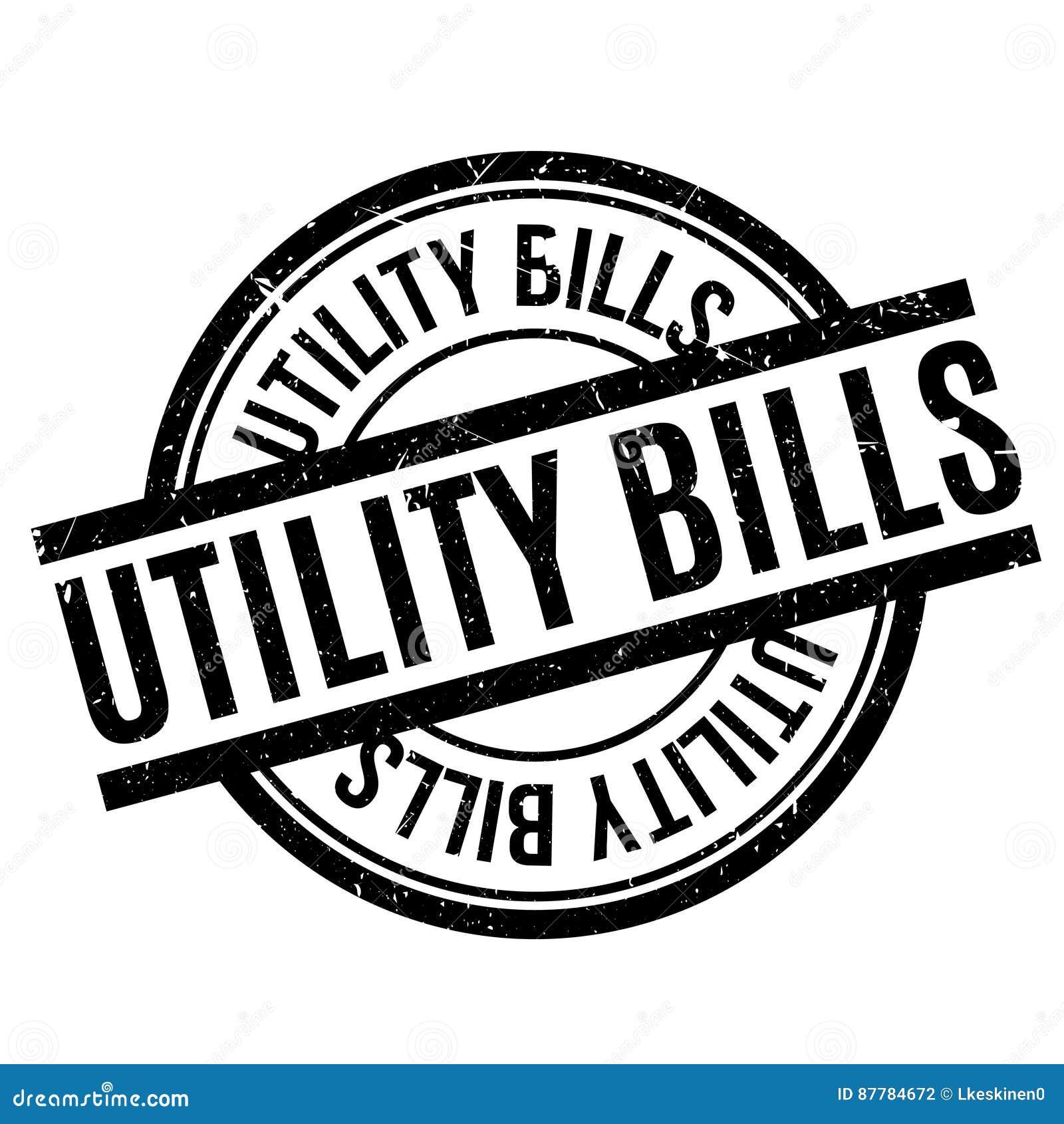 utility bills rubber stamp vector illustration