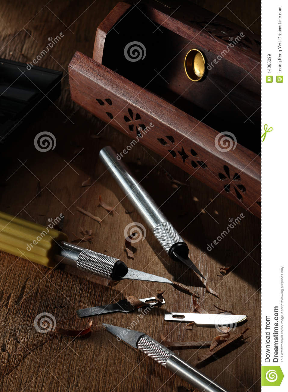 utility knives and tool box royalty free stock images image 14365099. Black Bedroom Furniture Sets. Home Design Ideas