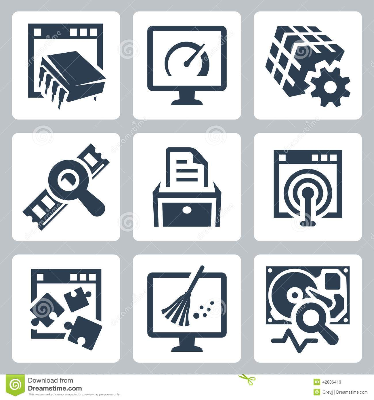 Utility software vector icons stock vector image 42806413 Vector image software