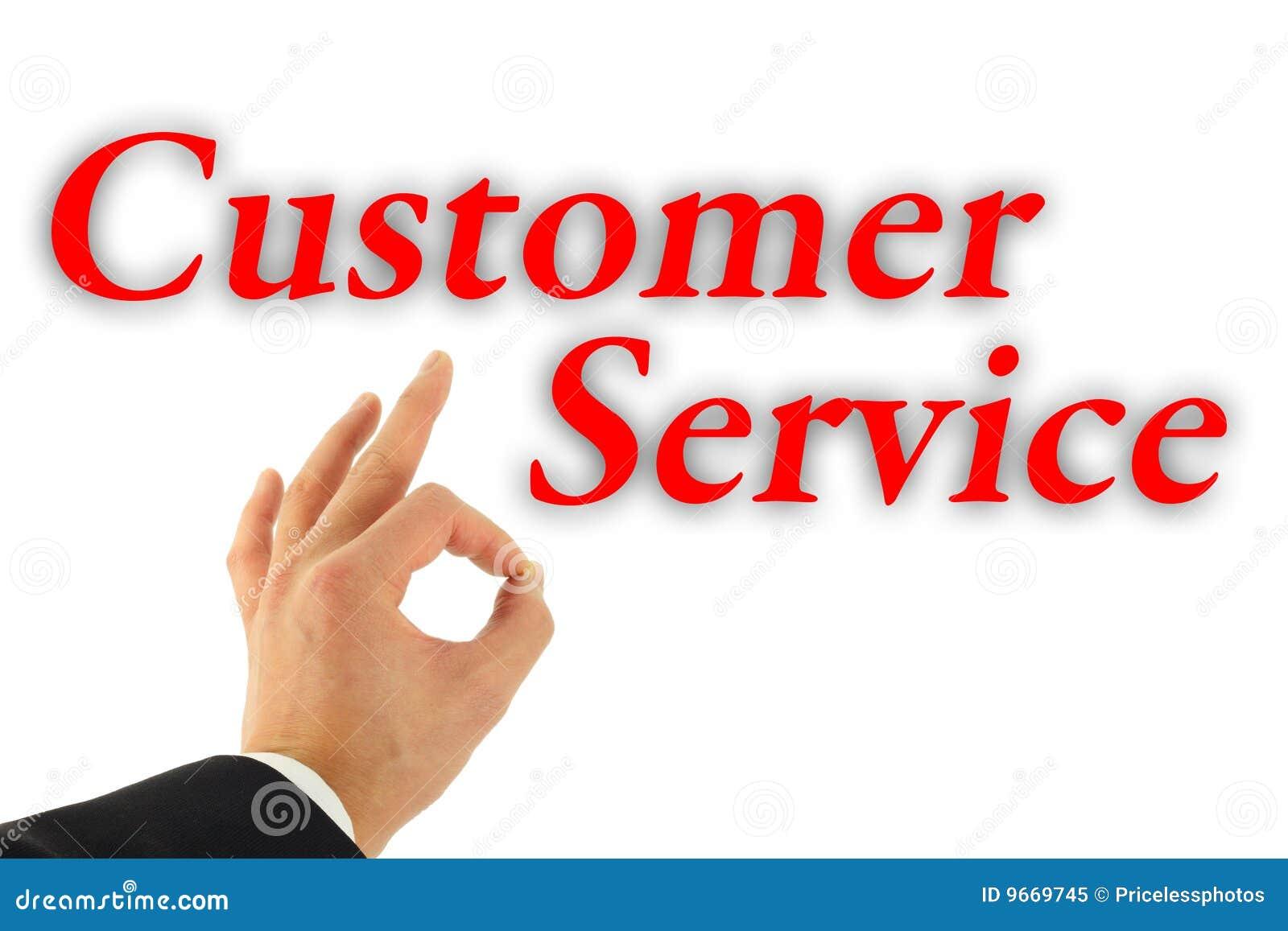 Utmärkt service för begreppskund