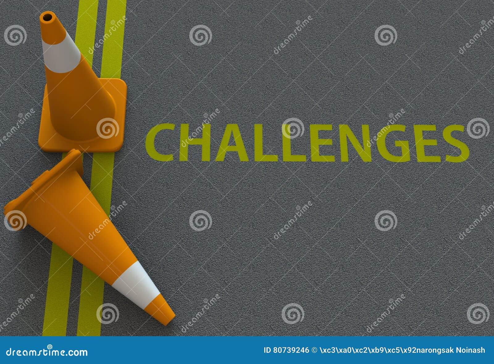 Utmaningar meddelande på vägen