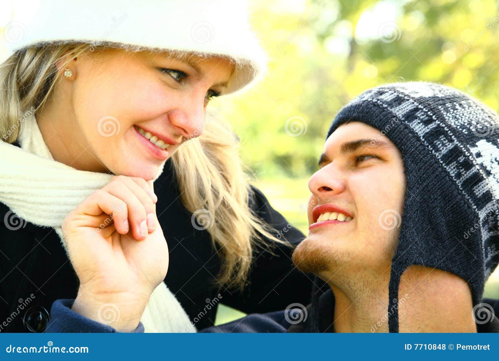 Utomhus- romantiker för par