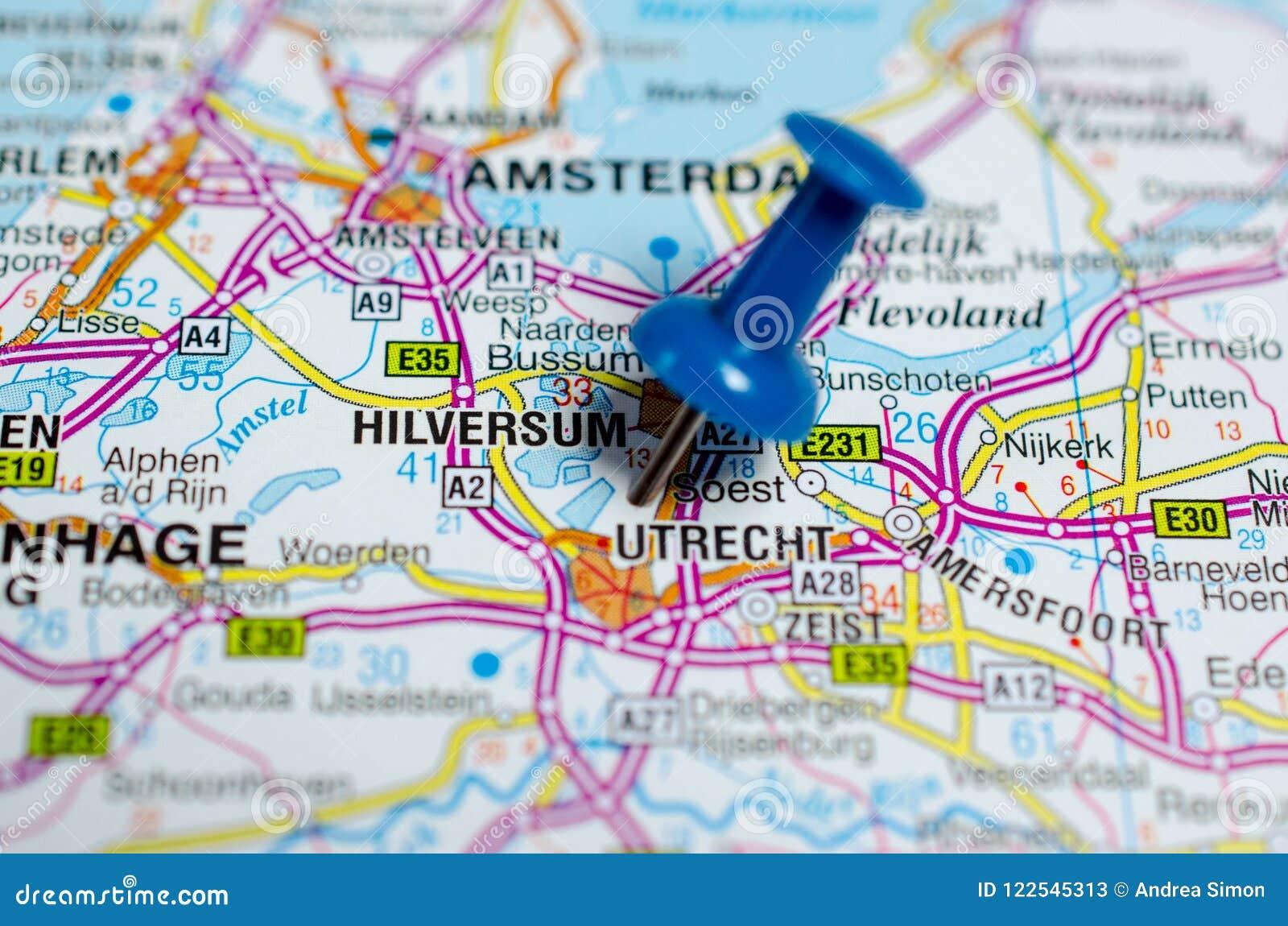 Utrecht sur la carte