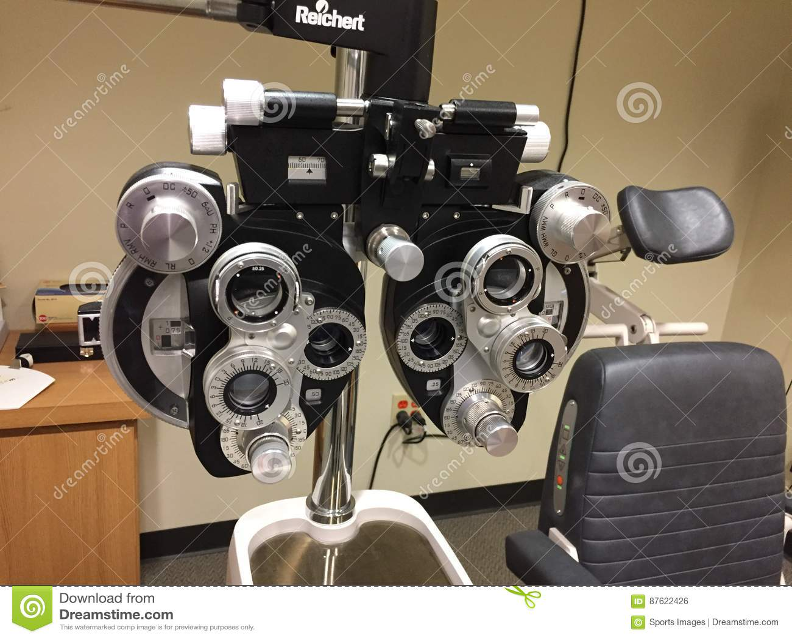 Utrustning för ögonexamen