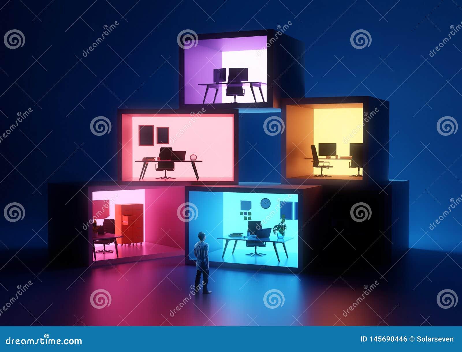 Utrymmen för affärskontor och arbetsplats