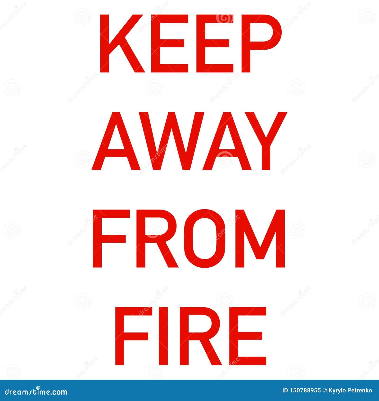 Utrzymanie zdala od pożarniczej etykietki dla odziewać