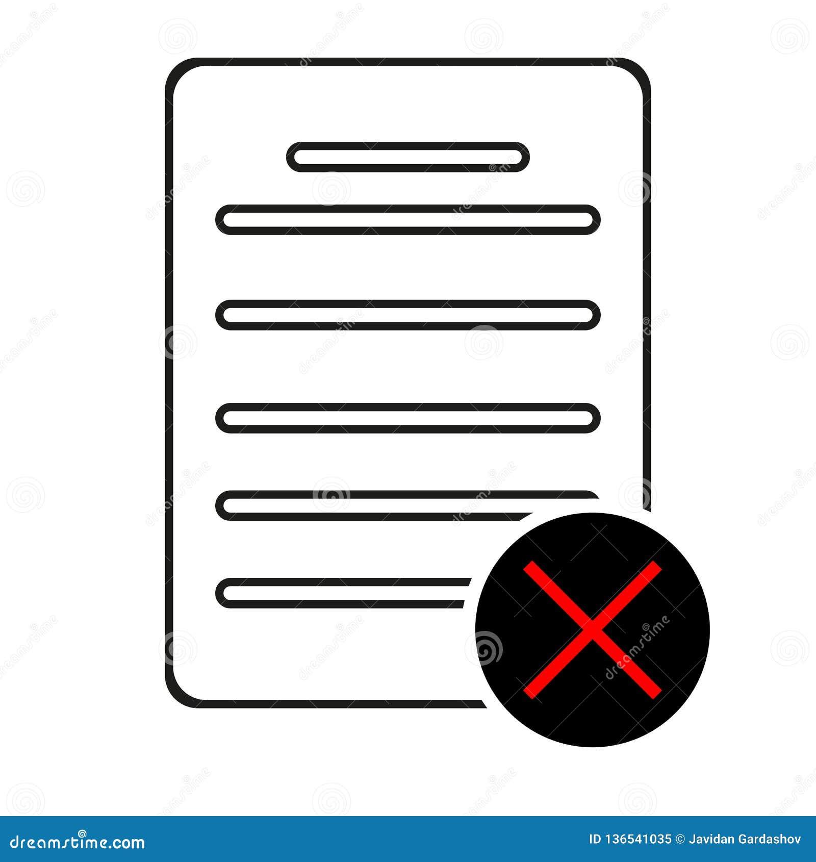 Utskottsvaramapplinje symbol Nedgångdokumenttecken Borttagningsmapp Plan appbeståndsdel för kvalitets- design Redigerbar symbol f