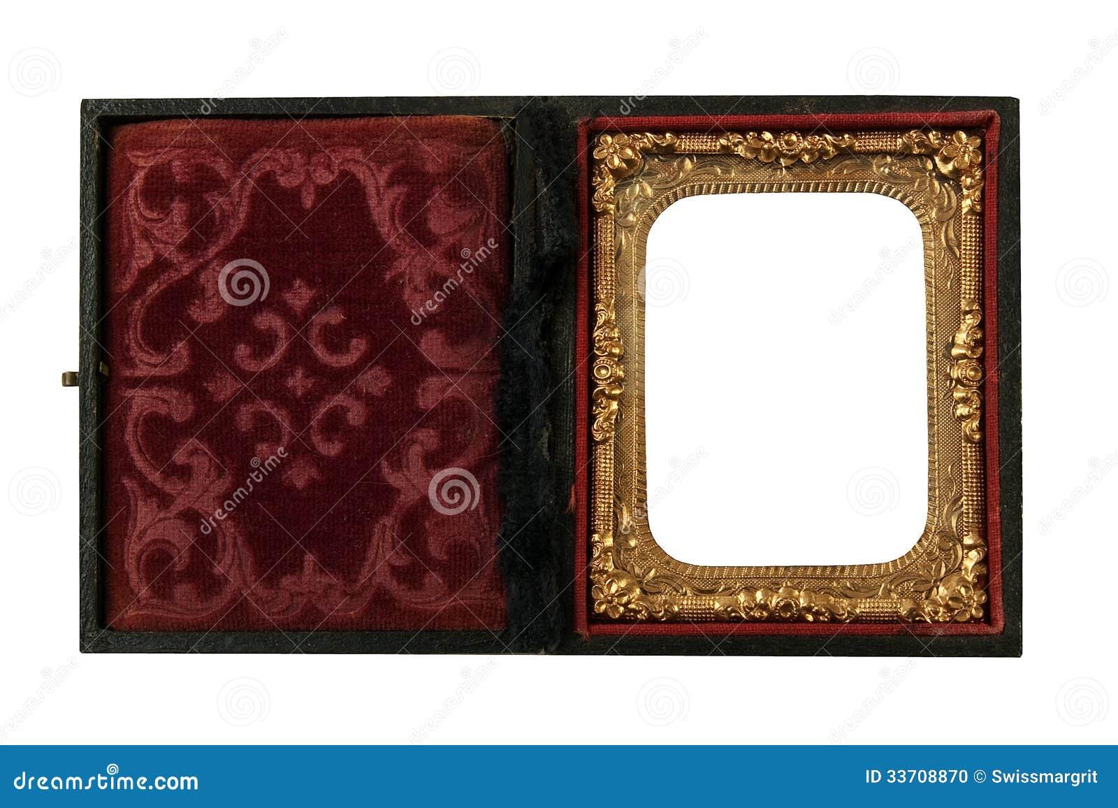 Utsmyckat fall för tenn- bilder för Daguerreotype