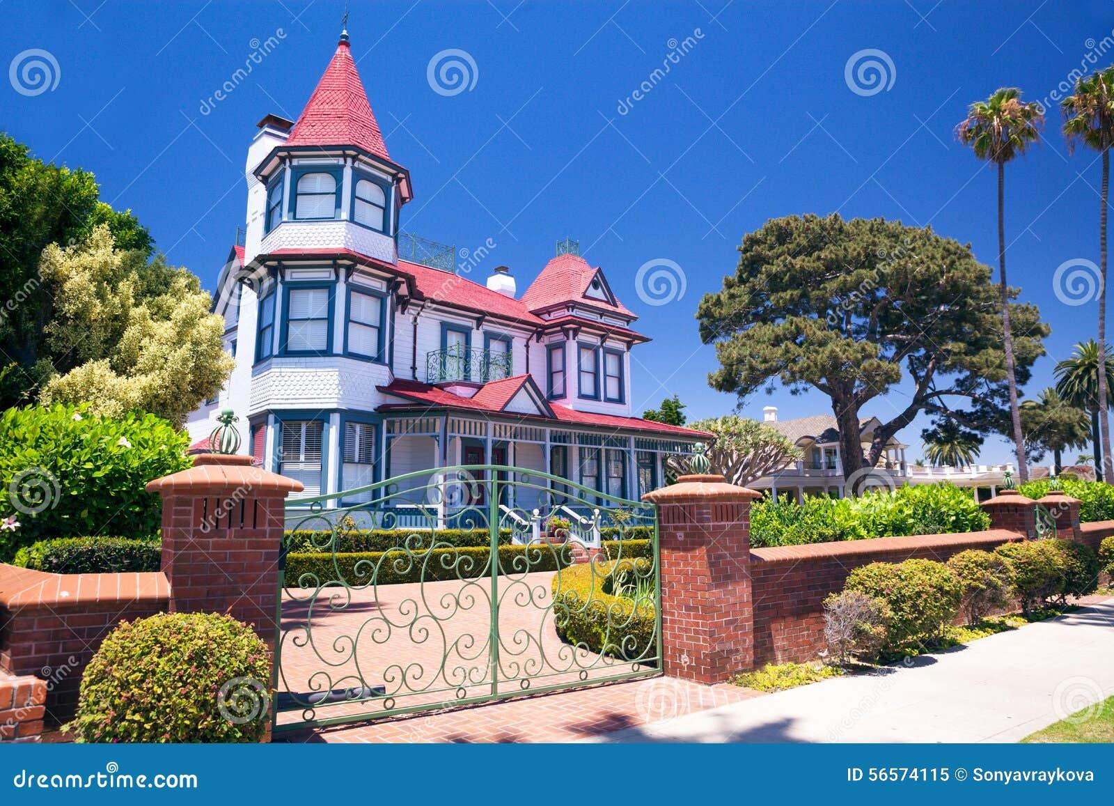Utsmyckat historiskt hus - Coronado, San Diego USA