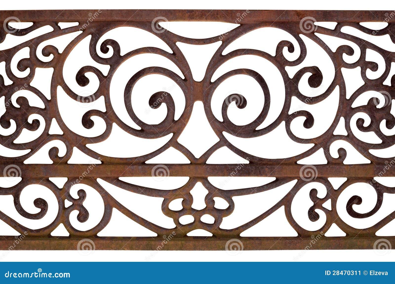 Utsmyckat specificera av ett staket