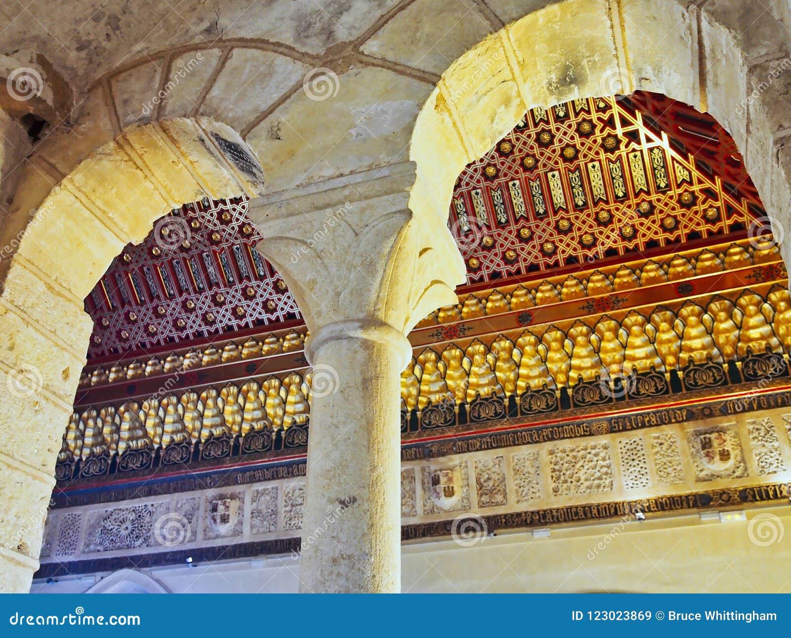 Utsmyckat tak, historisk Alcà ¡ zar de Segovia, Castile och Leon, Spanien