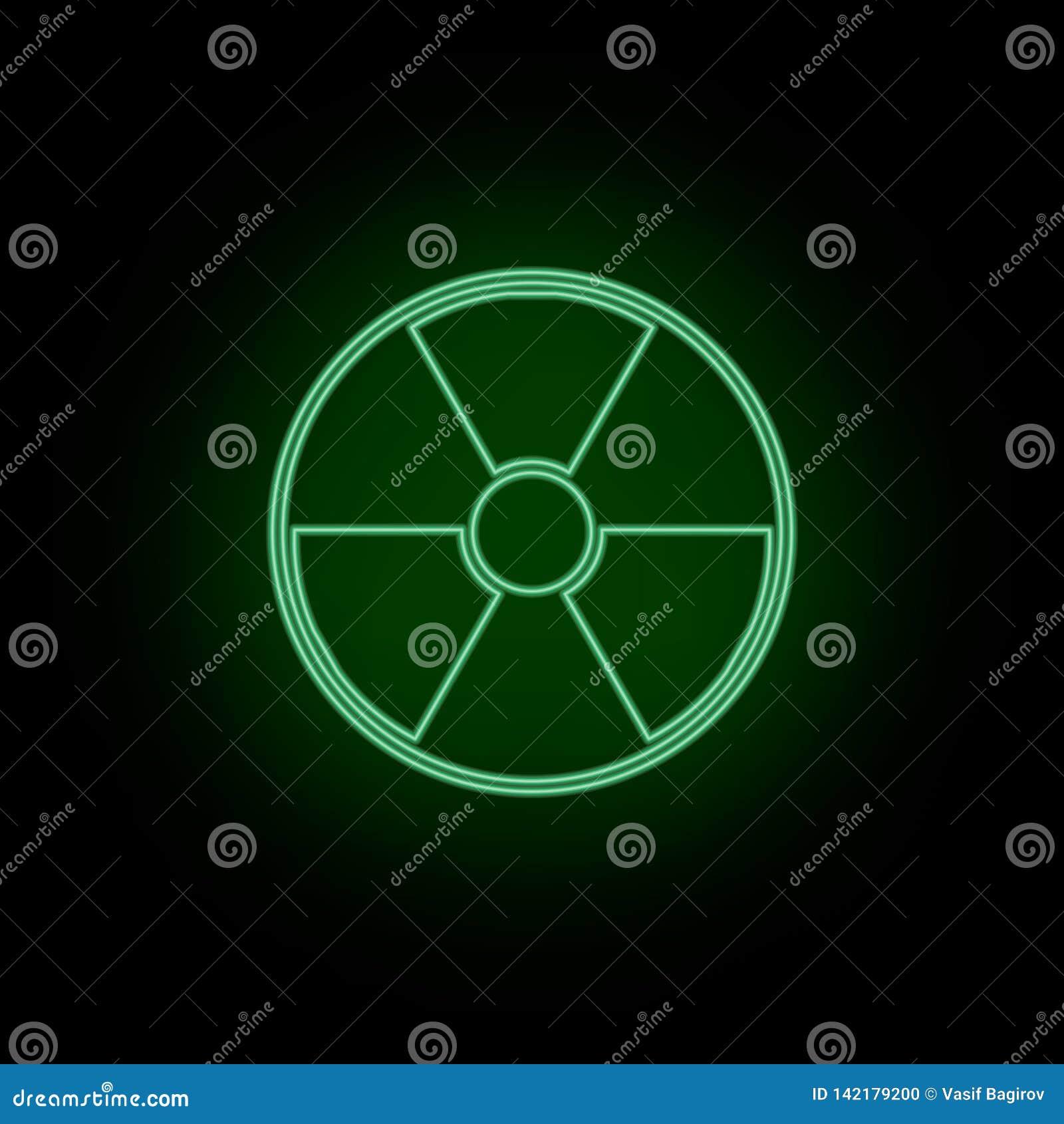 Utstrålning symbol, fara, tecken, neon Bioteknik och vetenskap, kemiskt laboratorium Vara kan att använda infographic och presend