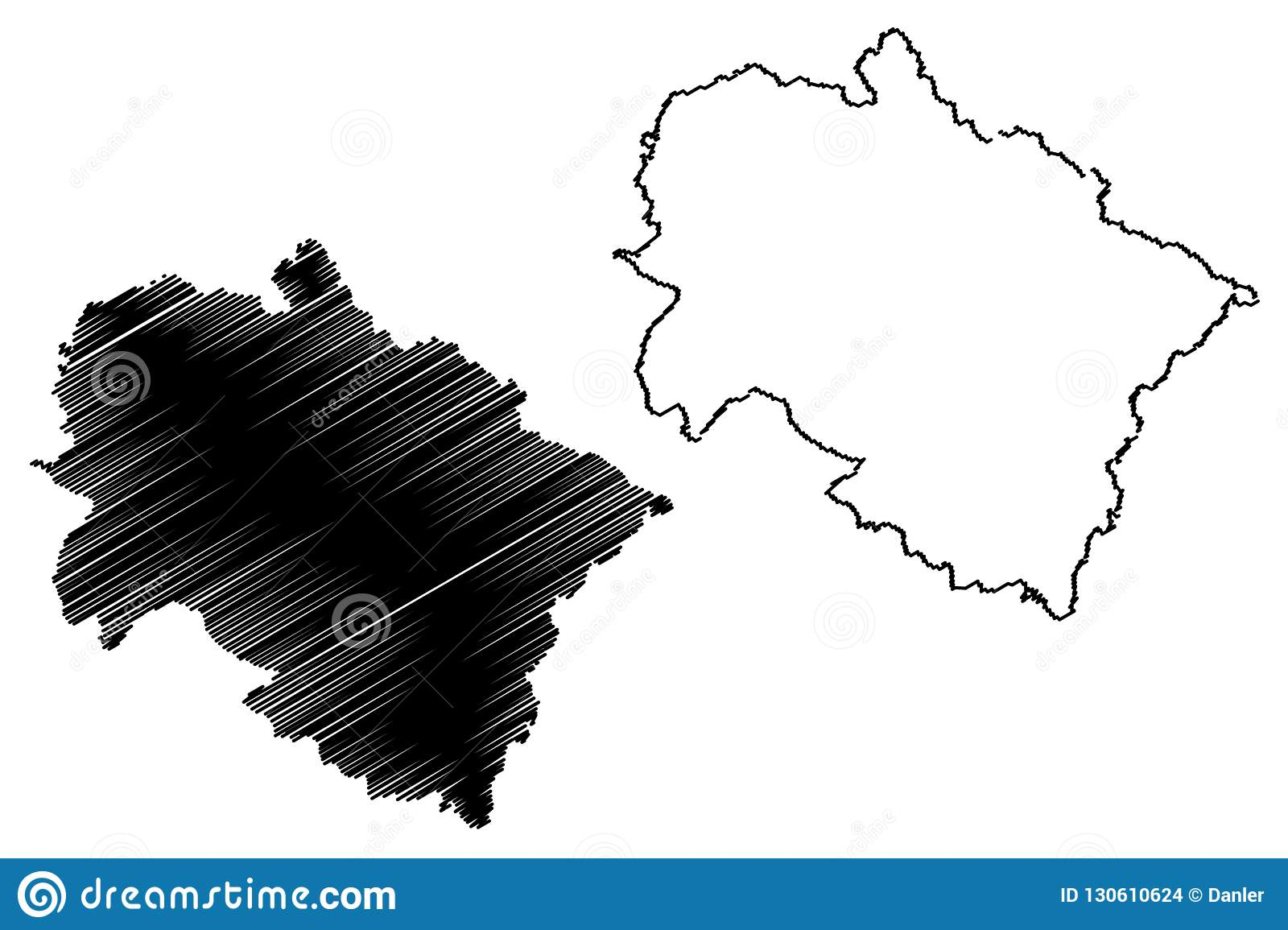 Uttarakhand map vector stock vector. Illustration of ...