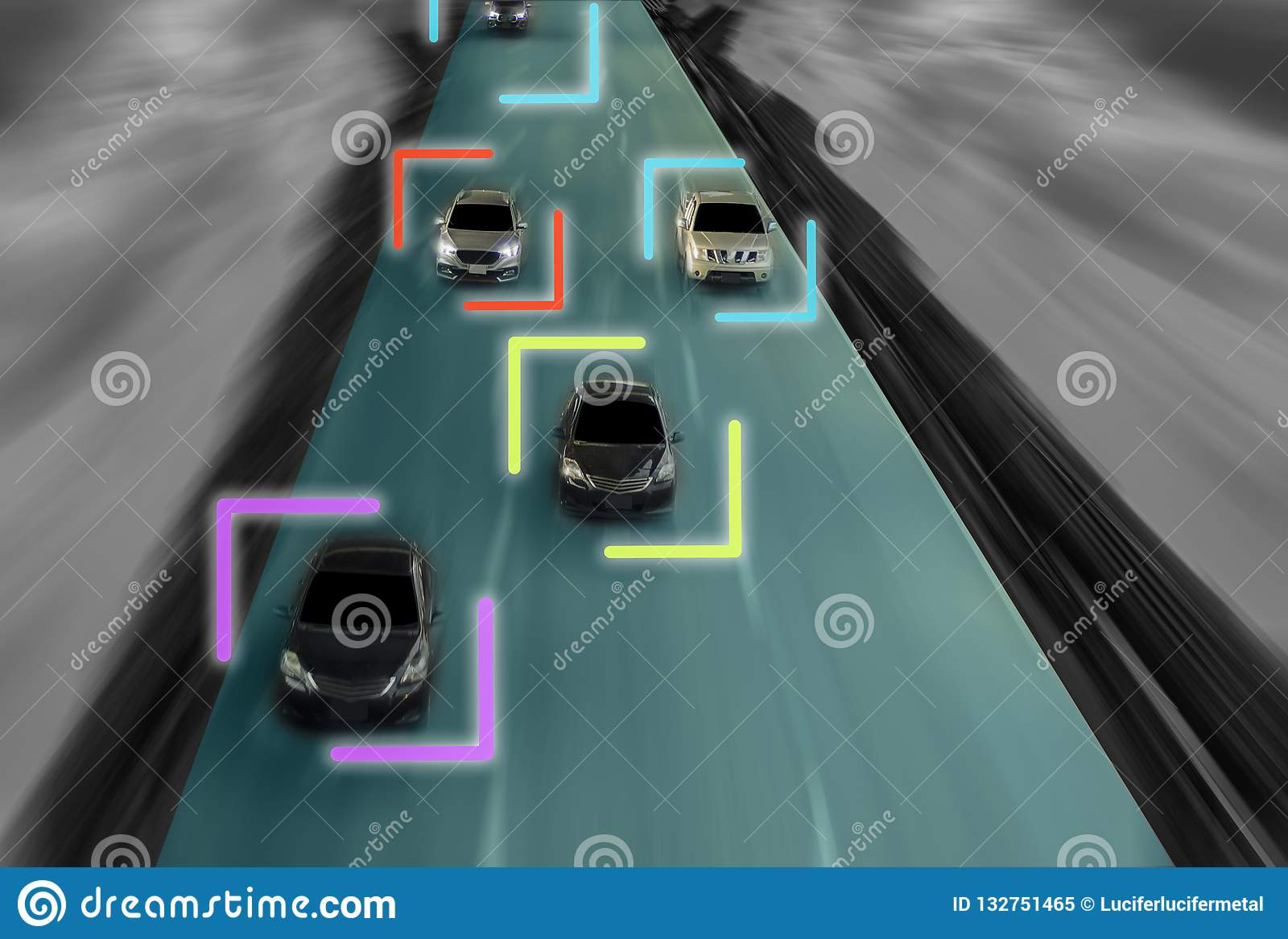 uturistic road of genius for intelligent self driving cars, Artificial Intelligence system,Detecting speed at city speed,With con