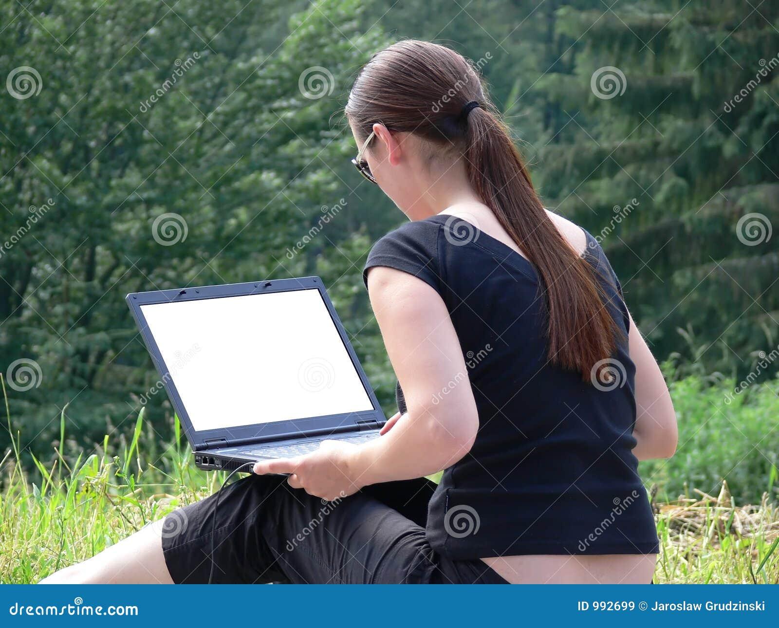 Utvändig sitting för flickabärbar dator