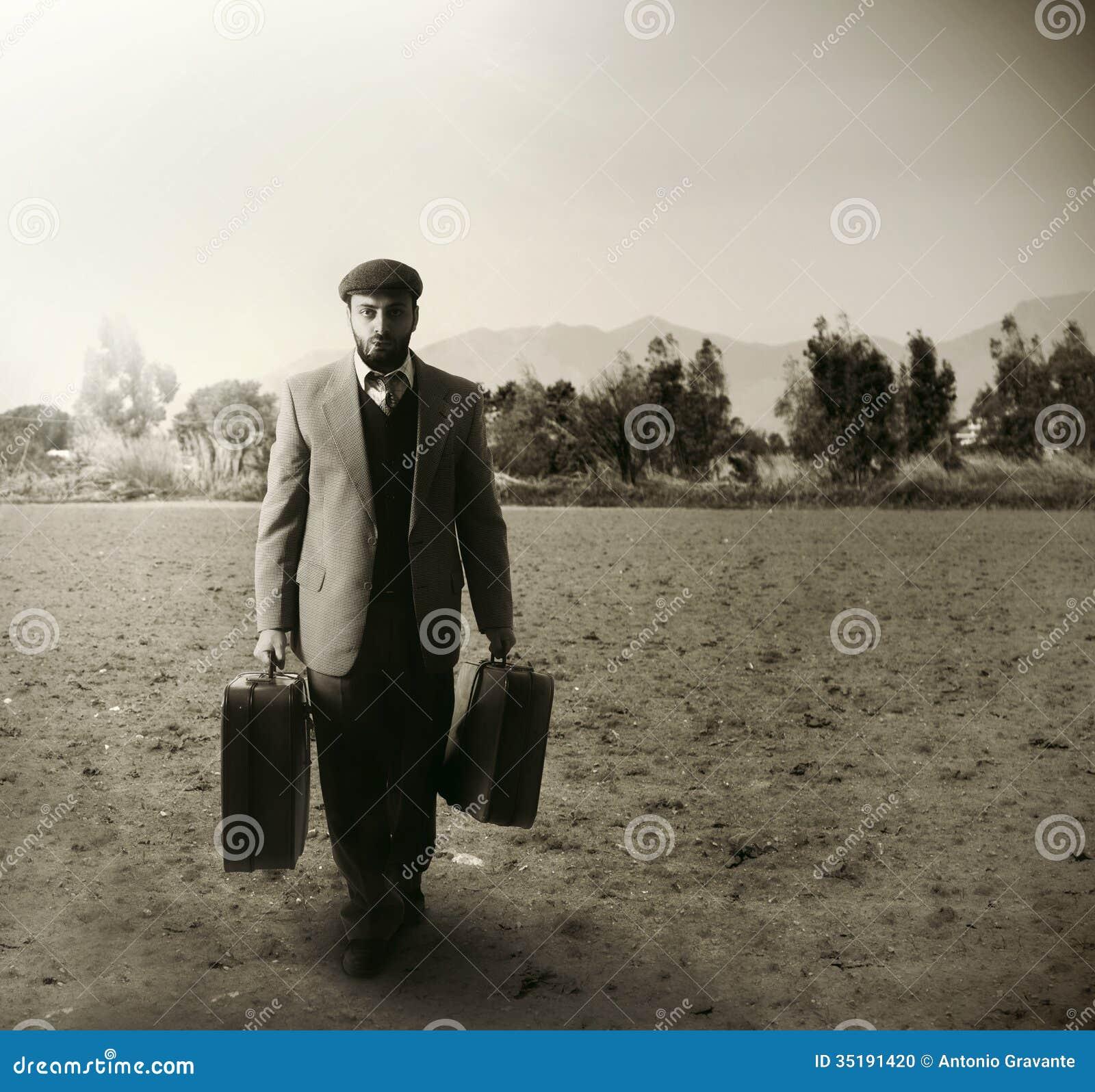 Utvandrare med resväskorna