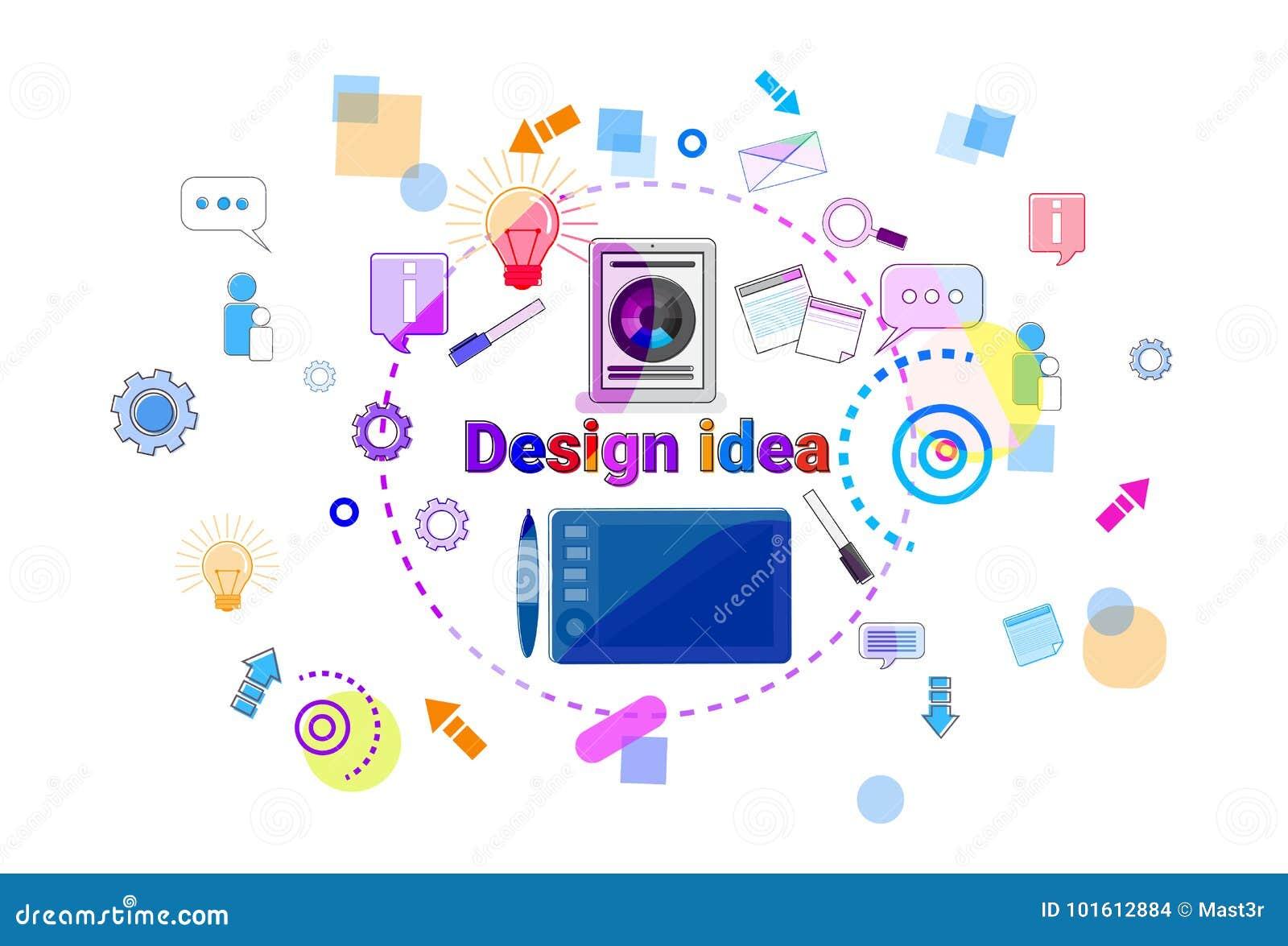 Utveckling för programvara för process för begrepp för idé för rengöringsdukdesign som idérik programmerar banret
