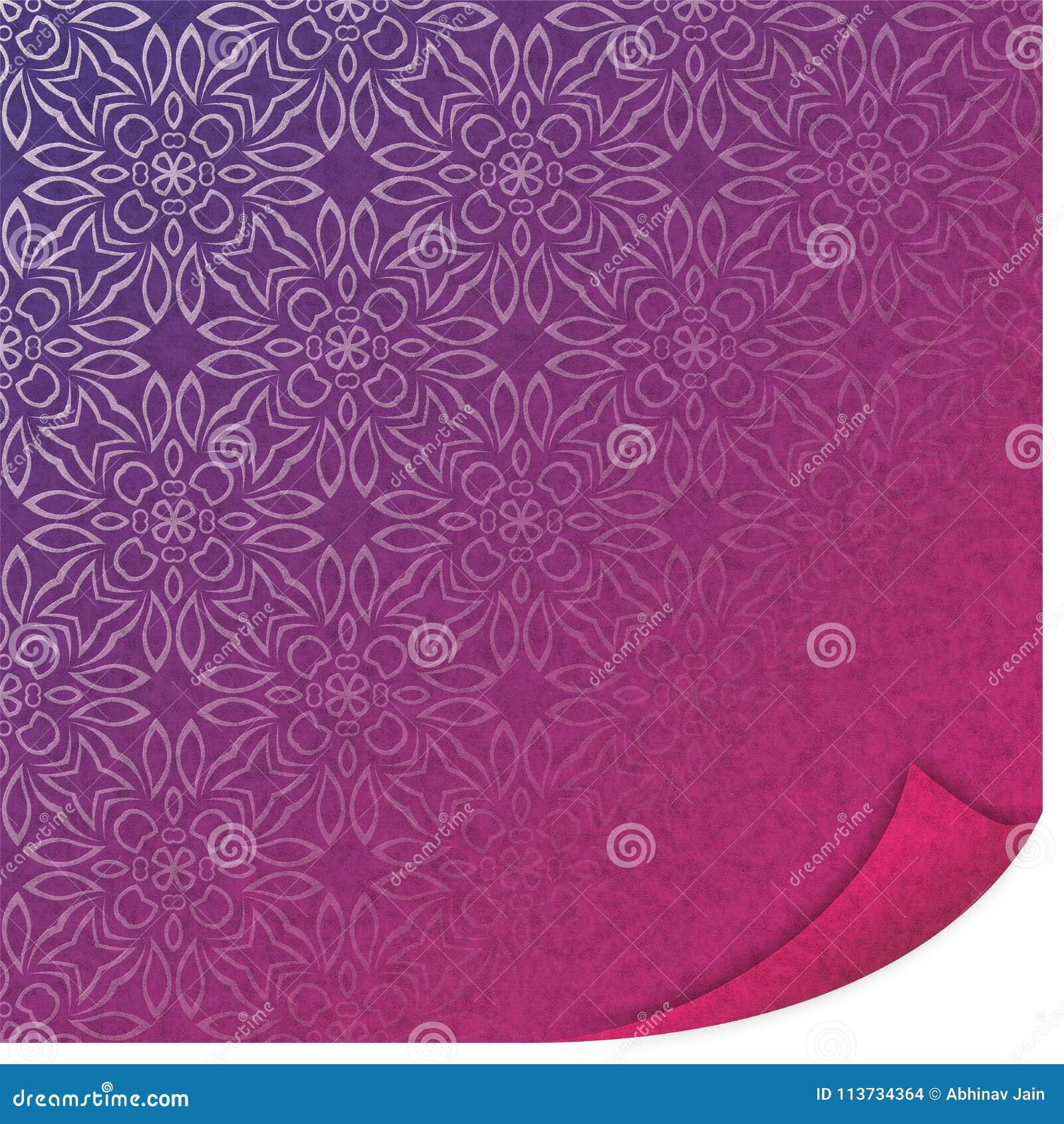 UV GEVOUWEN DOCUMENT patroon vectorillustratie