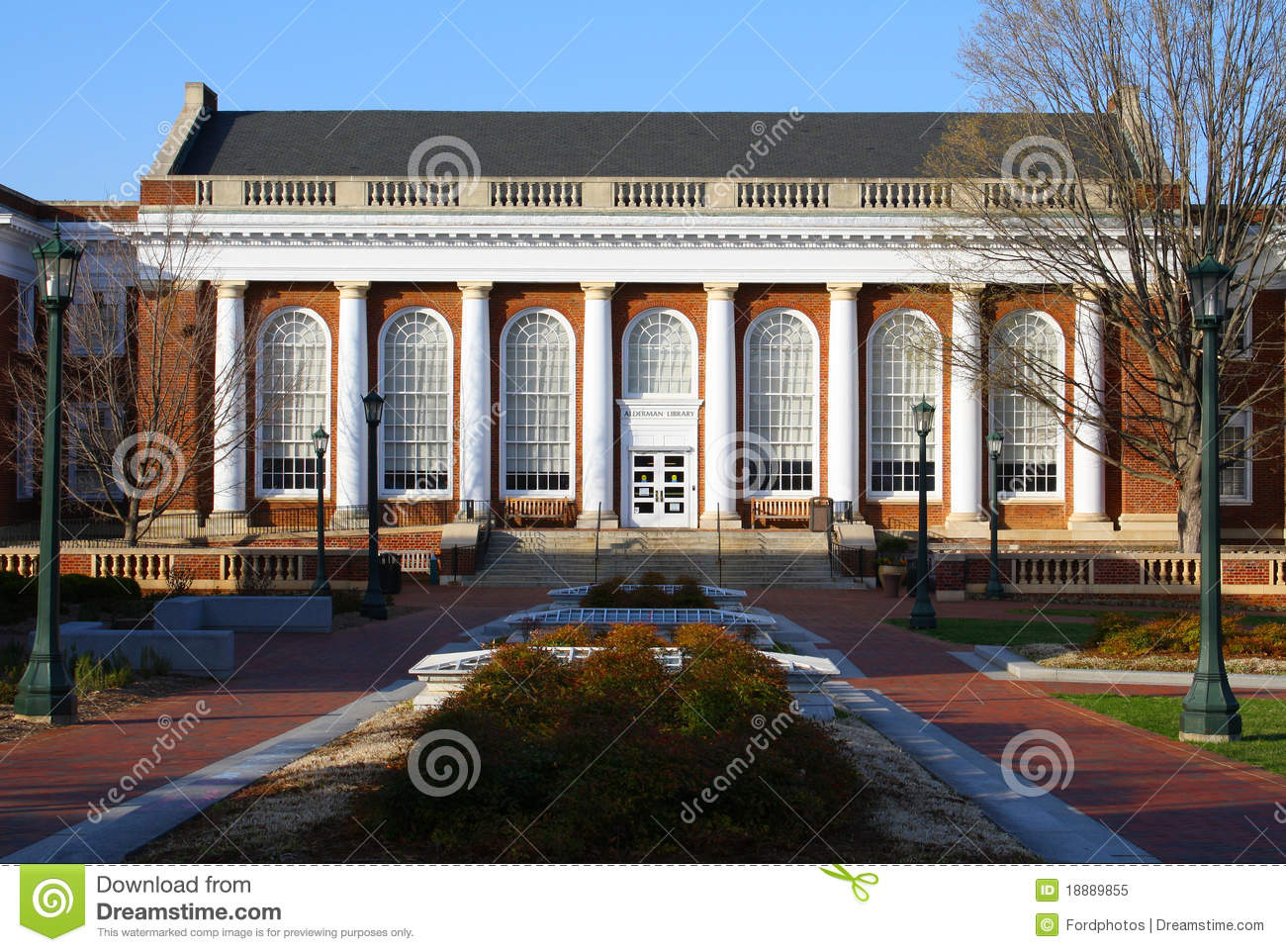 Alderman Library at the University of Virginia.